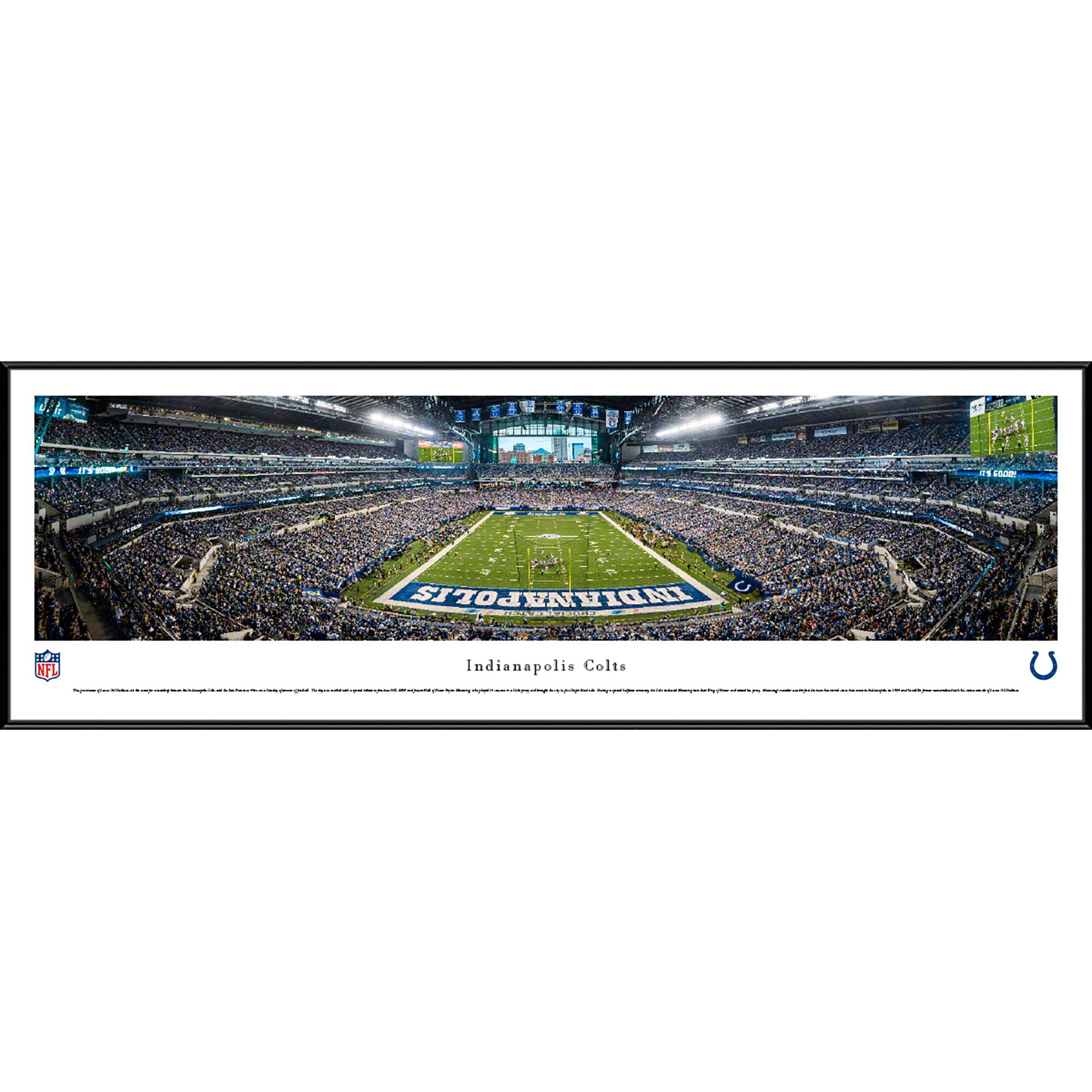 "Indianapolis Colts 40.25"" x 13.75"" Endzone Standard Framed Panoramic"