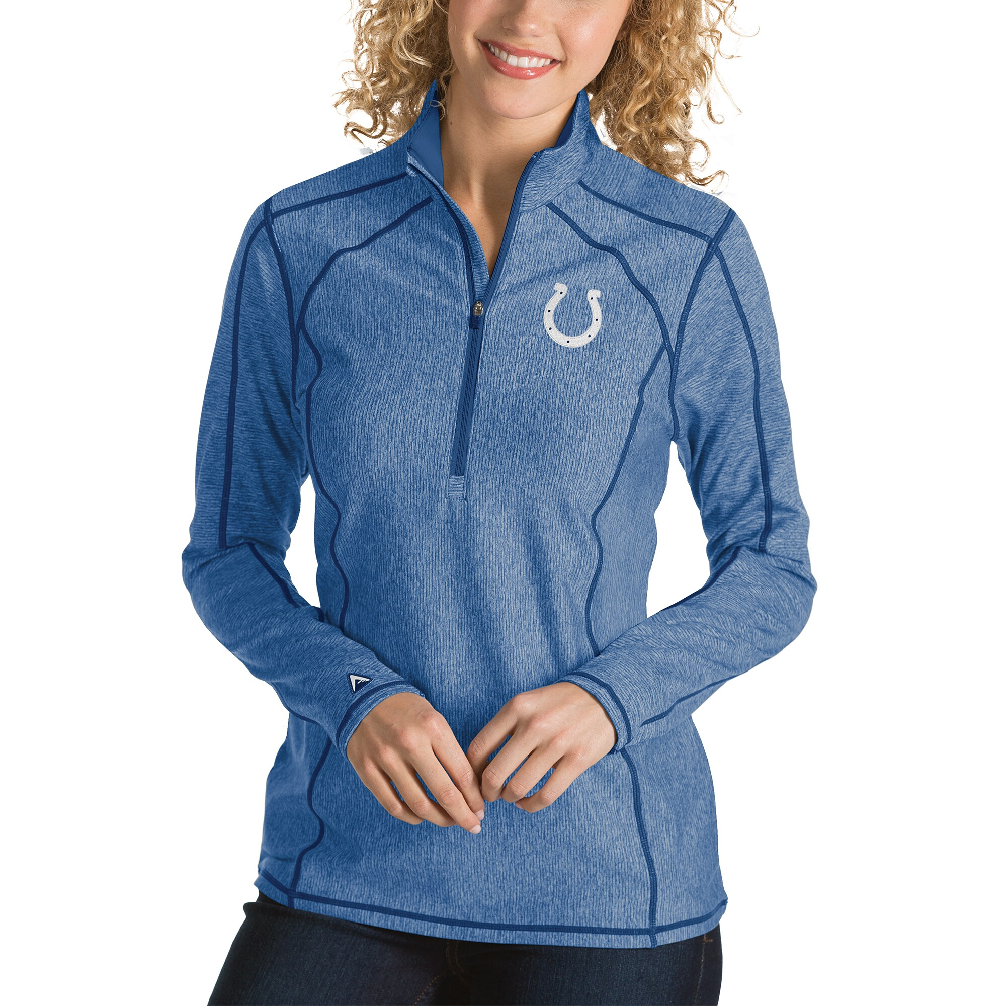 Indianapolis Colts Antigua Women's Tempo Desert Dry Quarter-Zip Jacket - Heather Royal