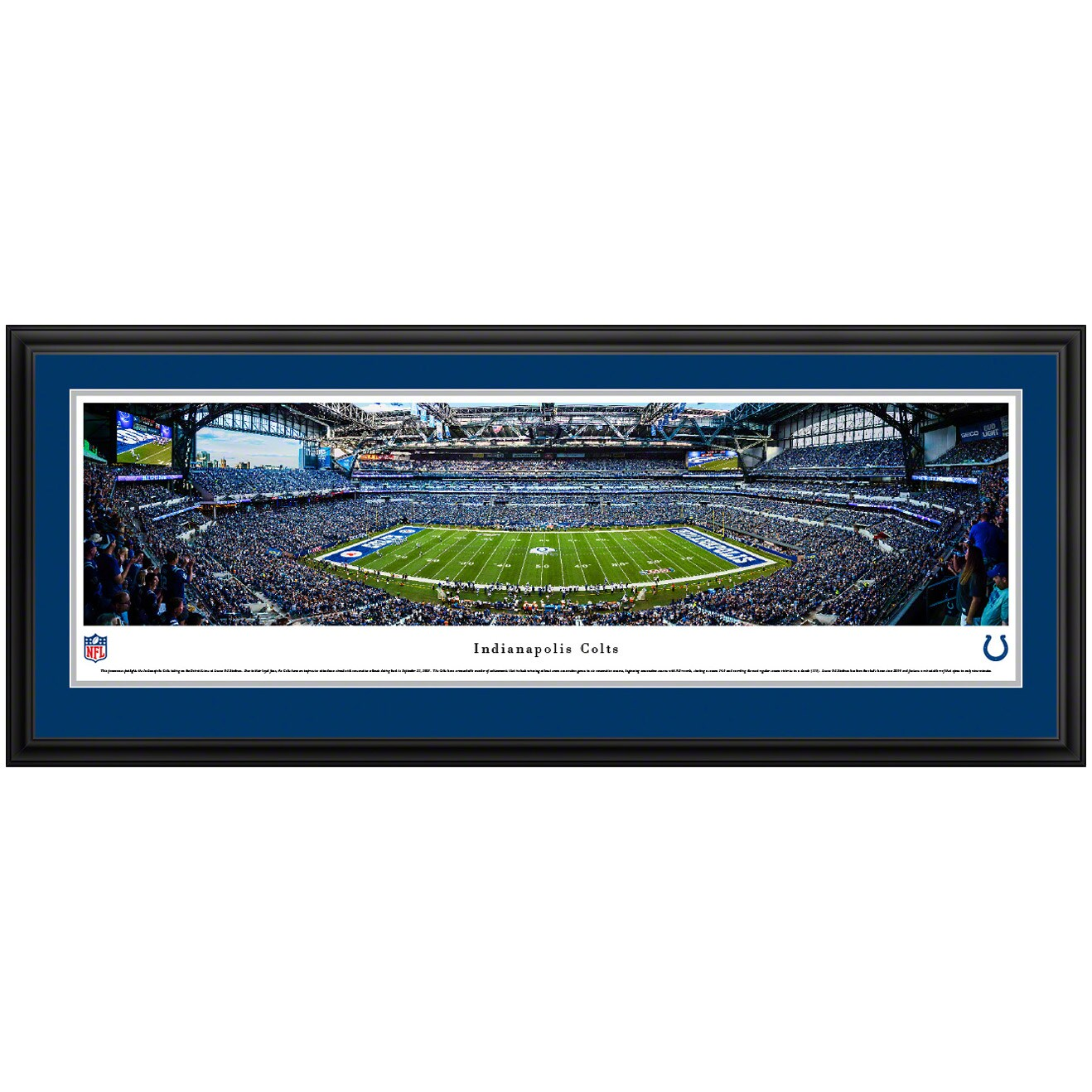 "Indianapolis Colts 44"" x 18"" Deluxe Frame Panoramic Photo"
