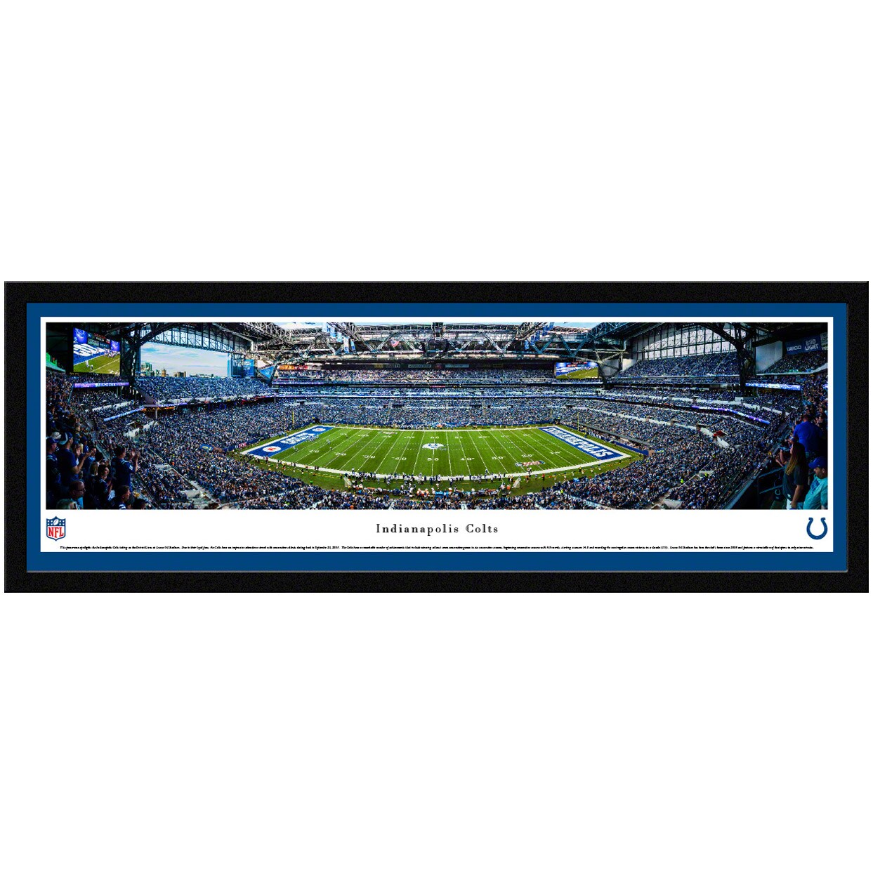 "Indianapolis Colts 42"" x 15.5"" Select Frame Panoramic Photo"