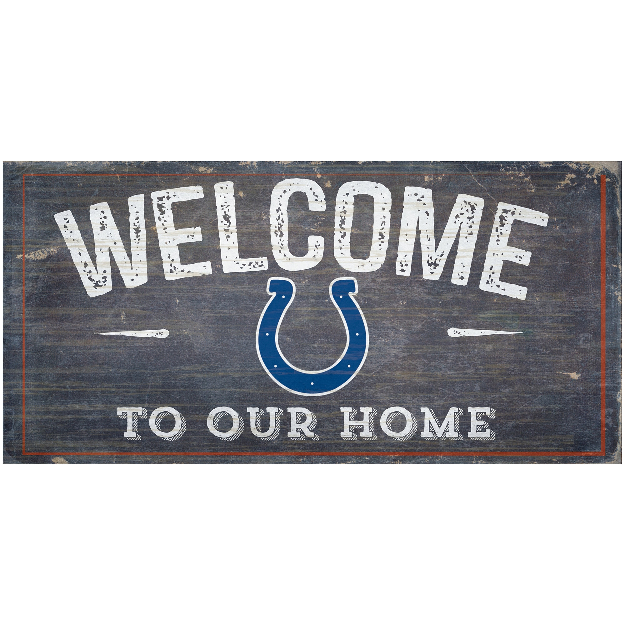"Indianapolis Colts 6"" x 12"" Welcome To Our Home Sign"