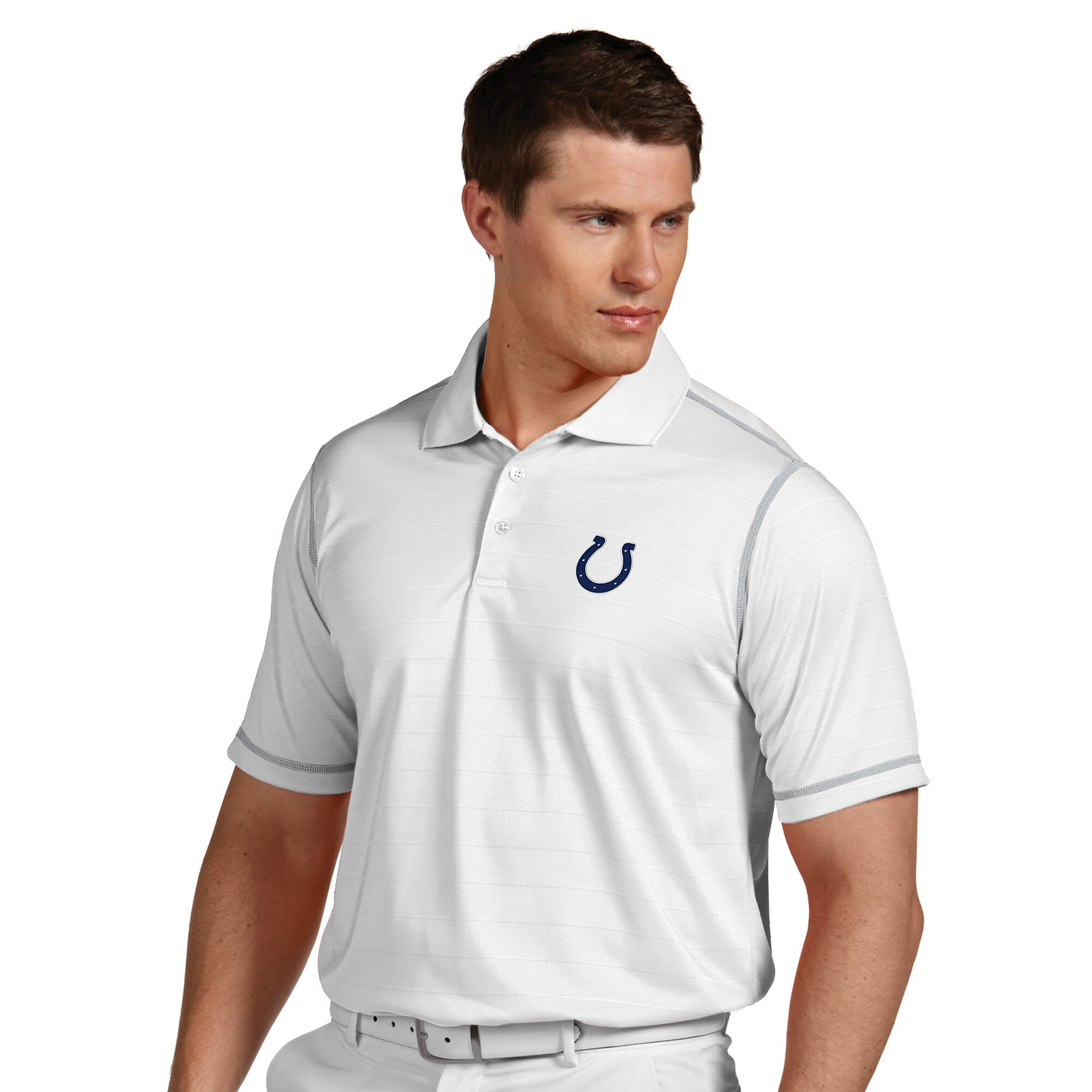 Indianapolis Colts Antigua Icon Desert Dry Polo - White
