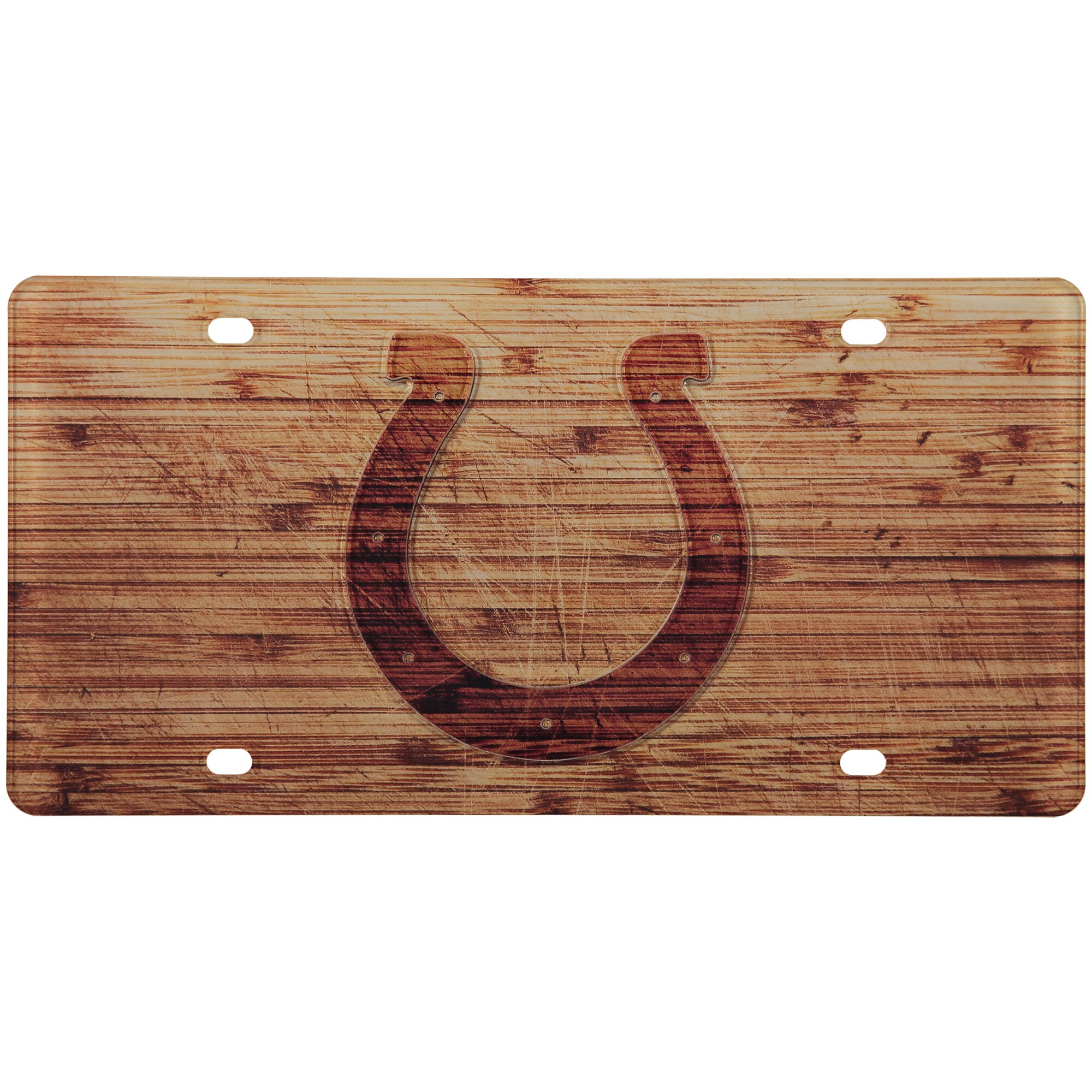 Indianapolis Colts Wood Design Acrylic License Plate