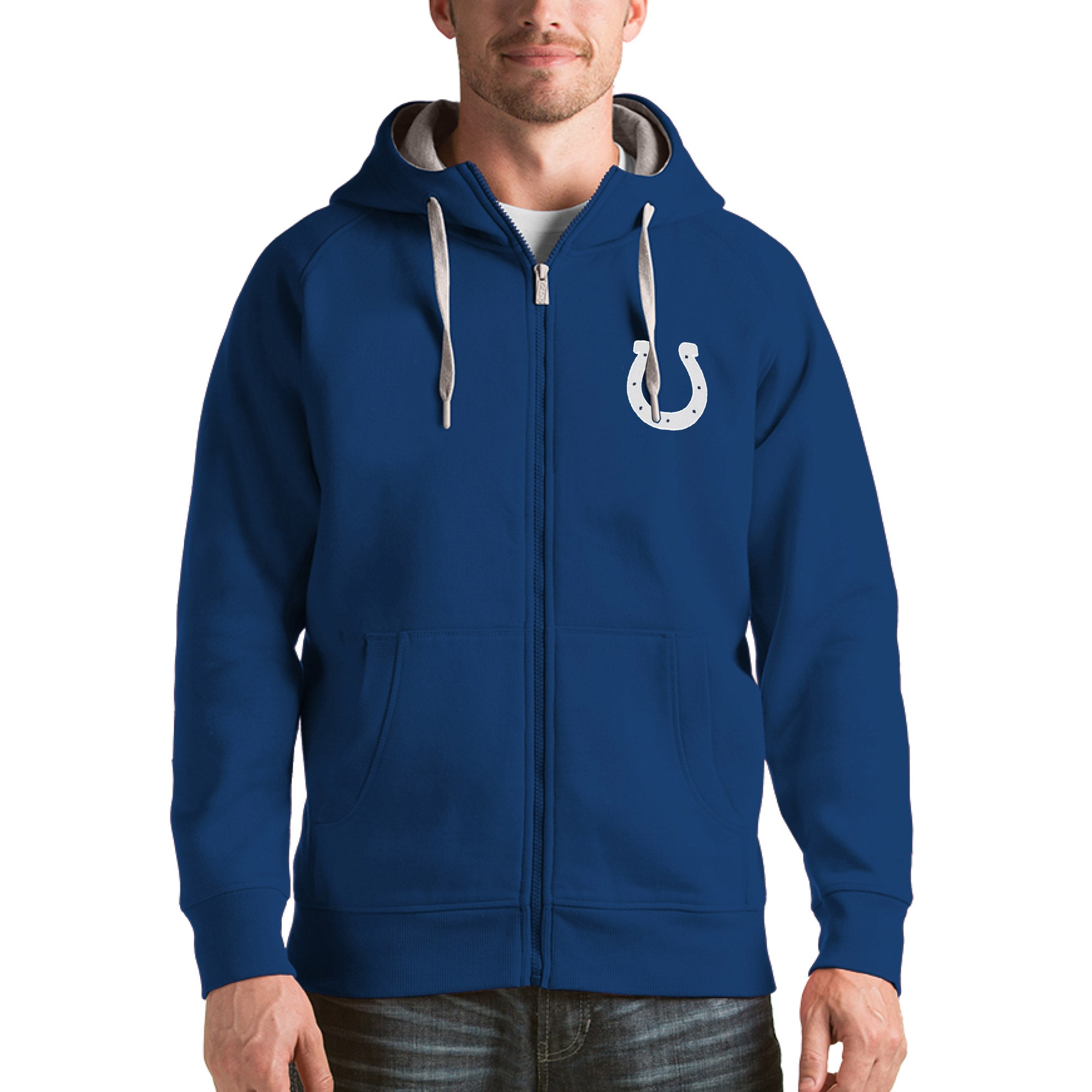 Indianapolis Colts Antigua Victory Full-Zip Hoodie - Royal