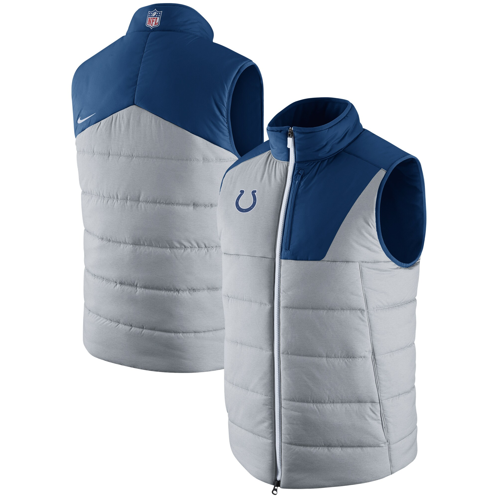Indianapolis Colts Nike Champ Drive Vest - Heathered Gray