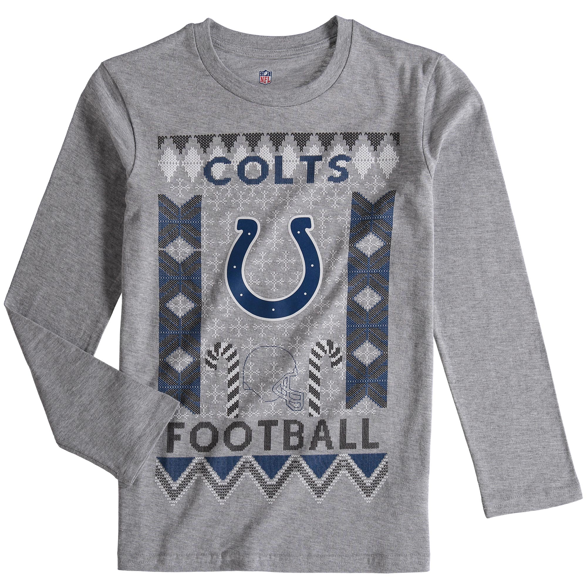Indianapolis Colts Youth Blizzard Long Sleeve T-Shirt - Heathered Gray