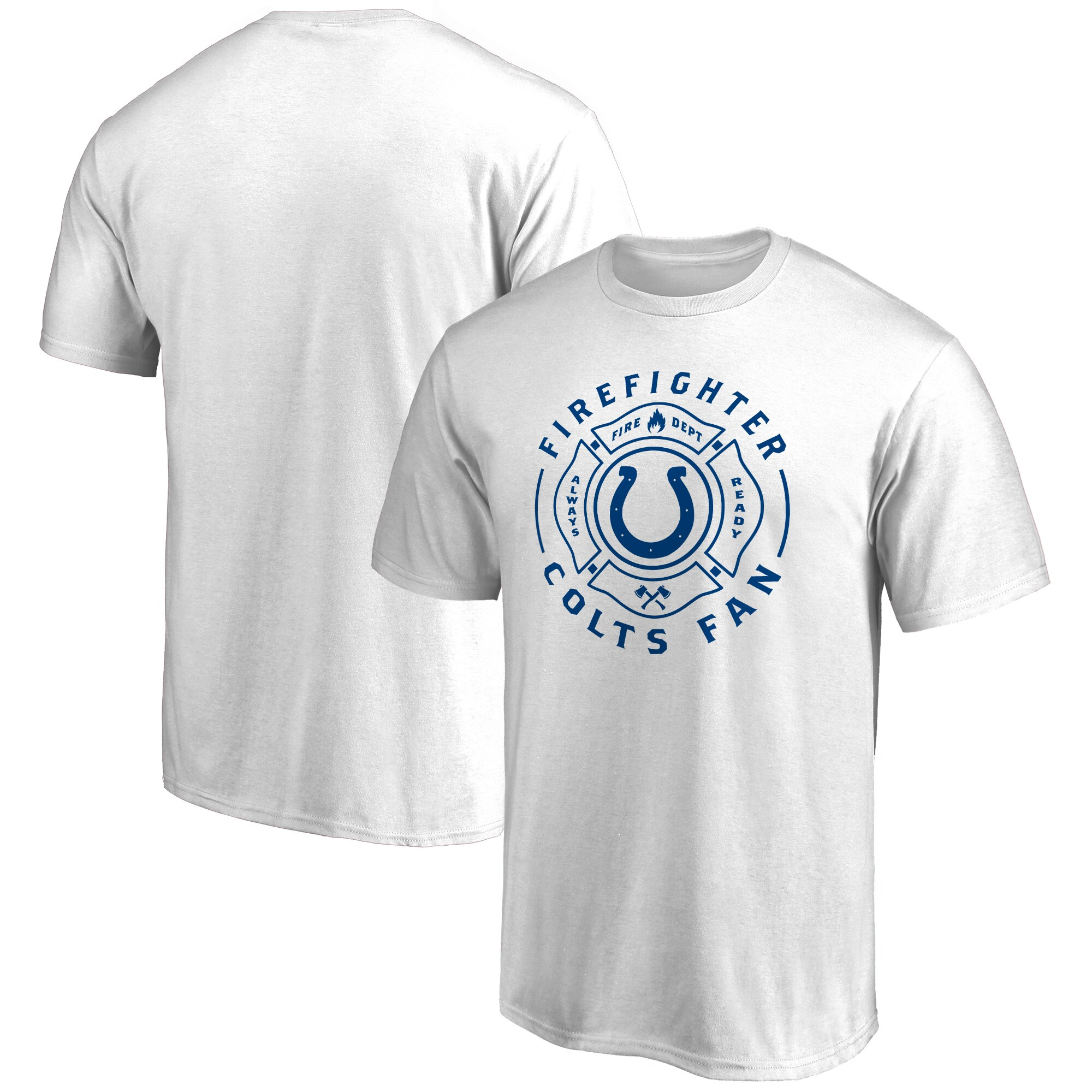 Indianapolis Colts NFL Pro Line Firefighter T-Shirt - White