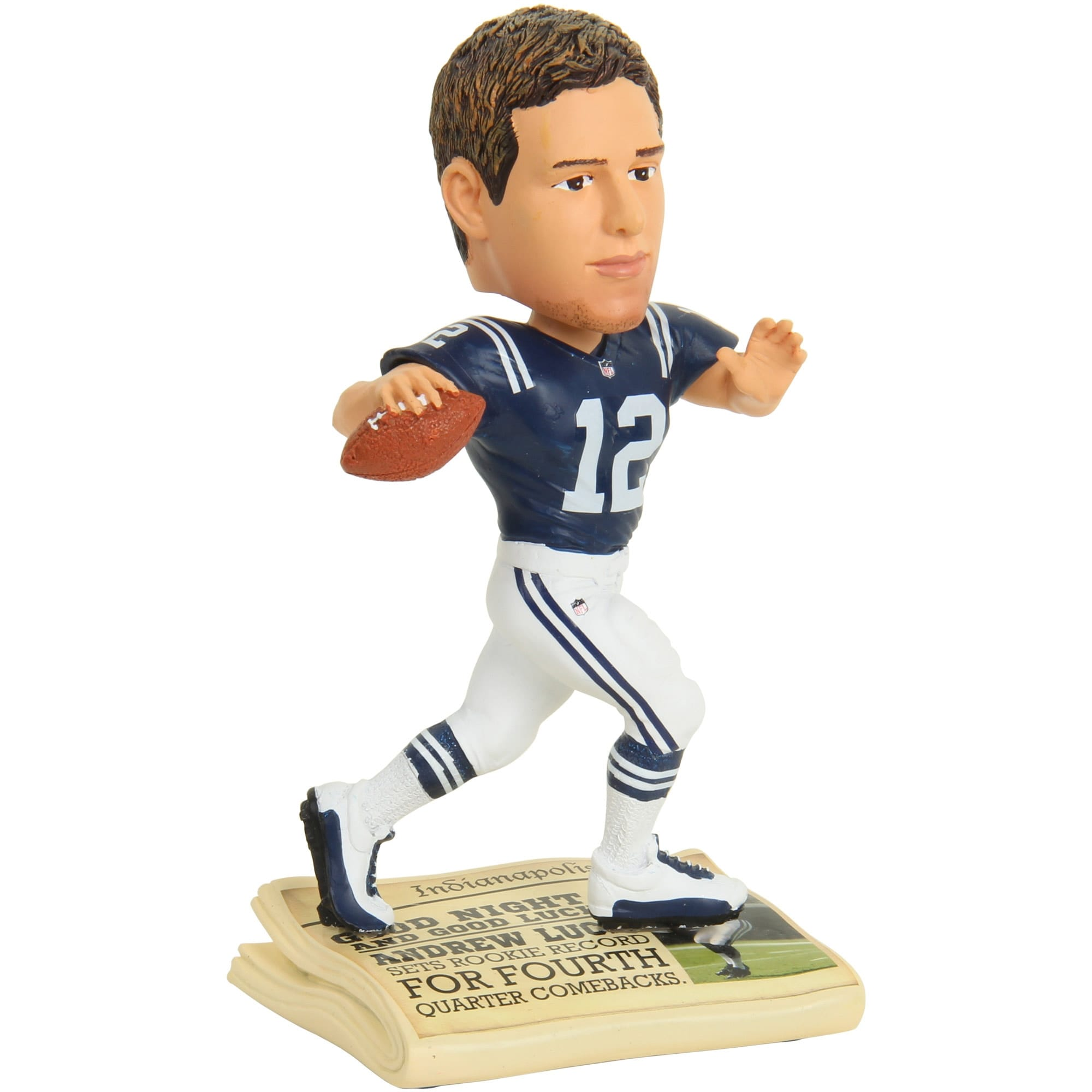 Andrew Luck Indianapolis Colts Newspaper Base Bobblehead Figurine