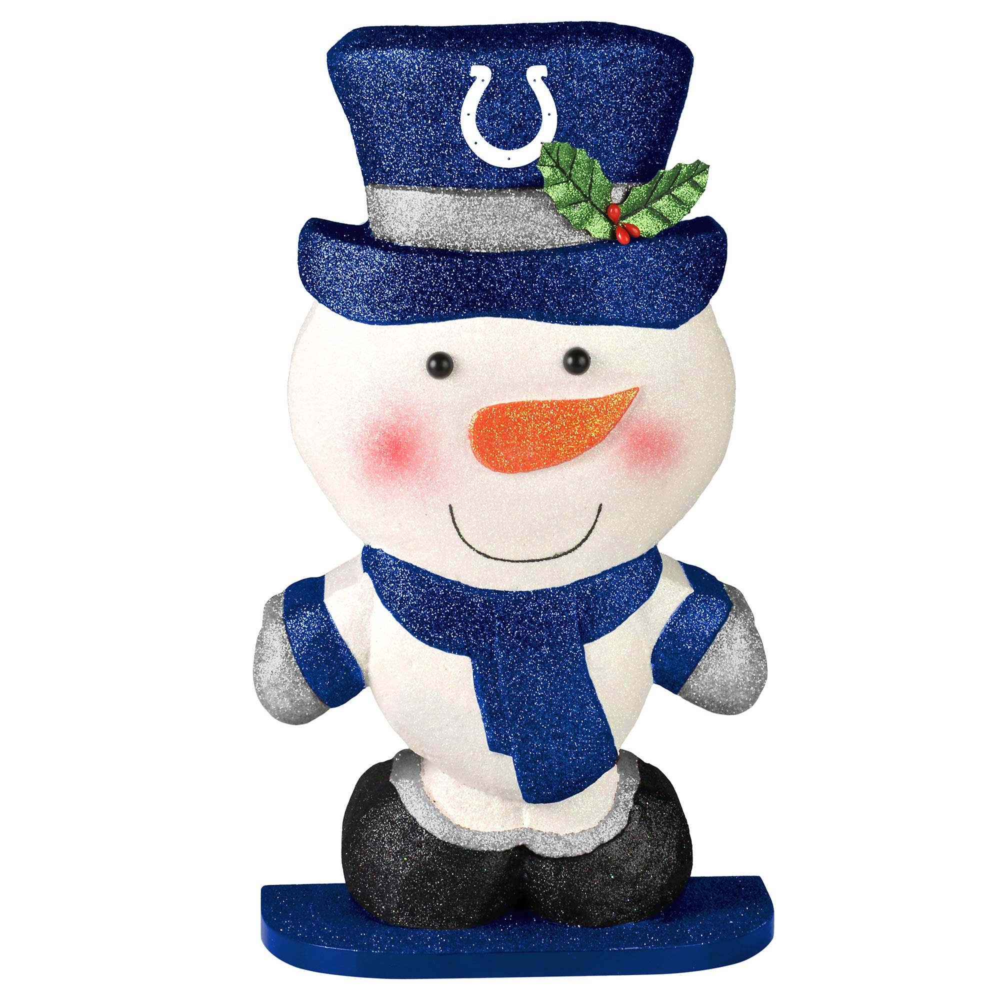 Indianapolis Colts Polystyrene Snowman Figurine