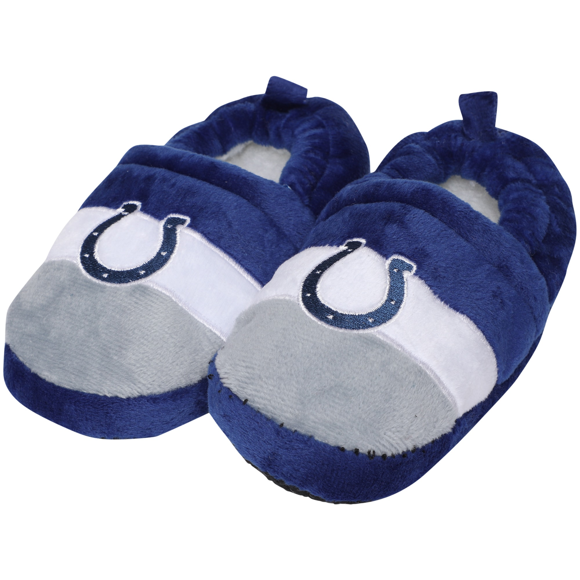 Indianapolis Colts Toddler Color Block Close Back Slippers