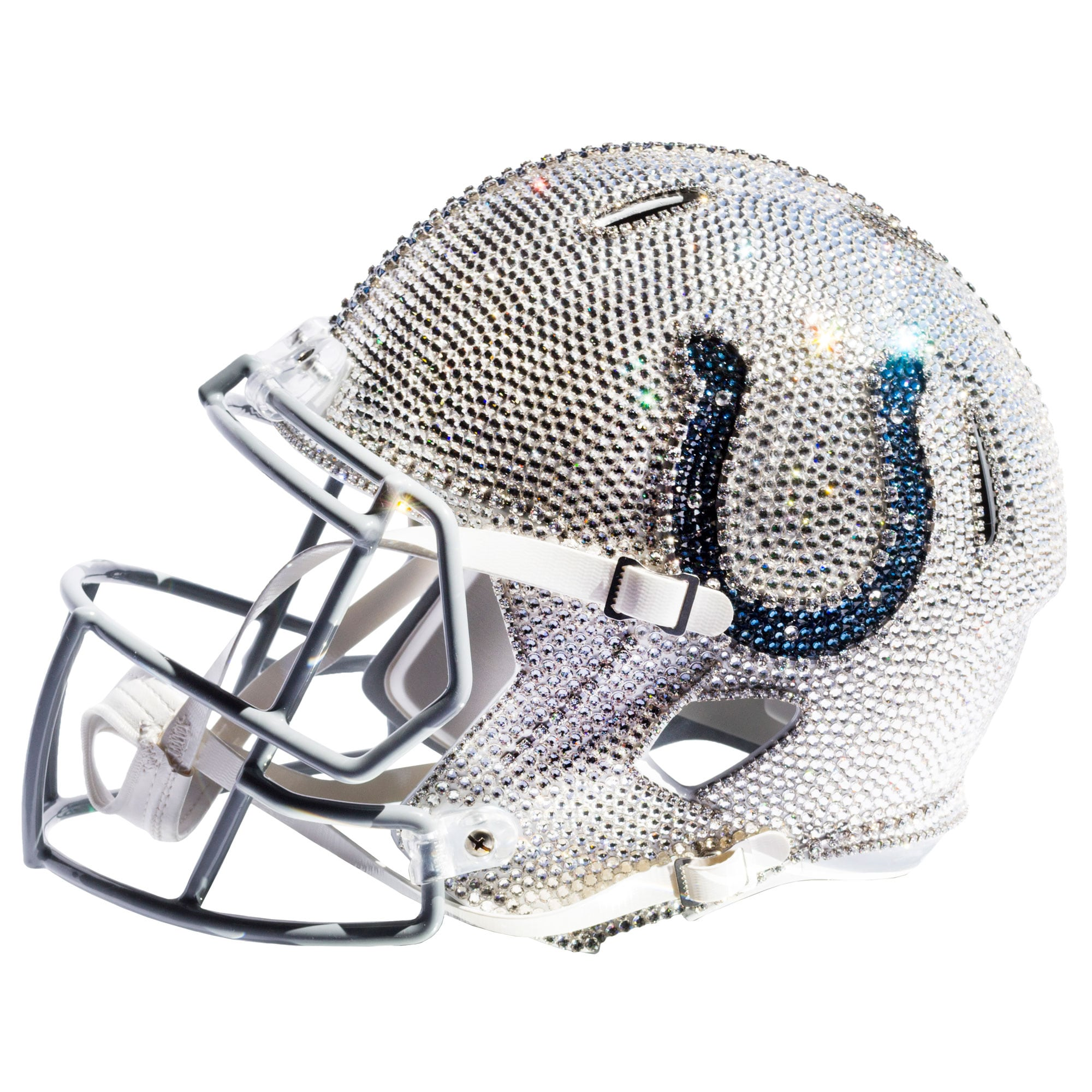 Indianapolis Colts Swarovski Crystal Large Football Helmet