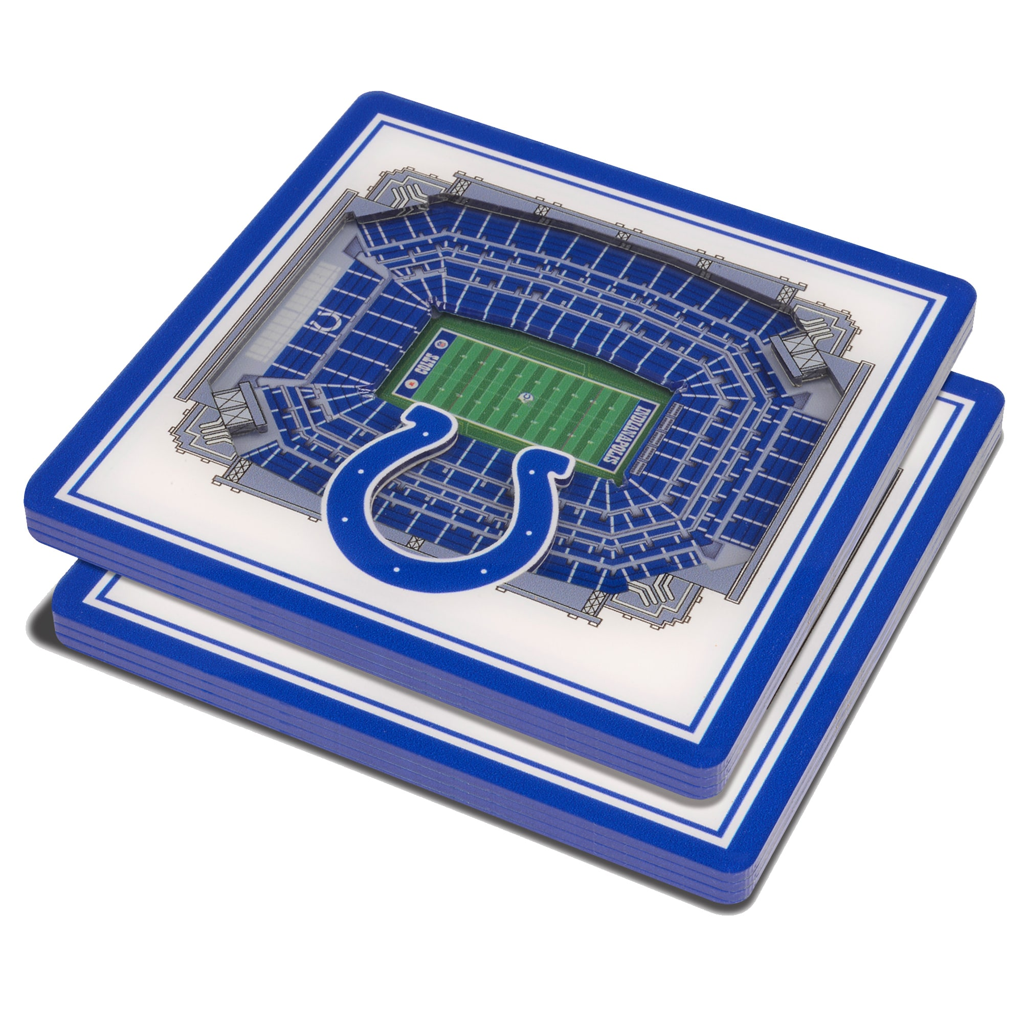 Indianapolis Colts 3D StadiumViews Coasters - White