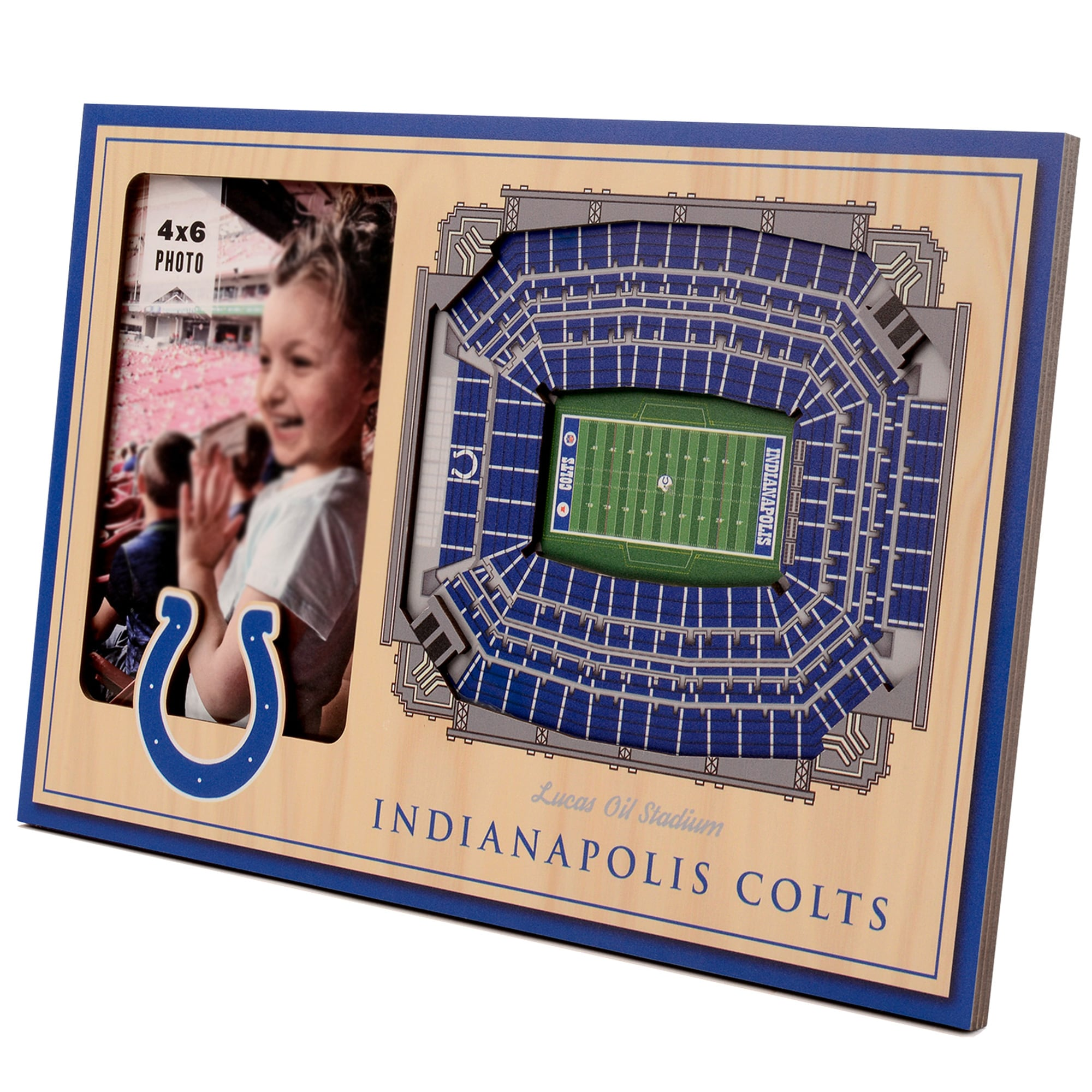 Indianapolis Colts 3D StadiumViews Picture Frame - Brown