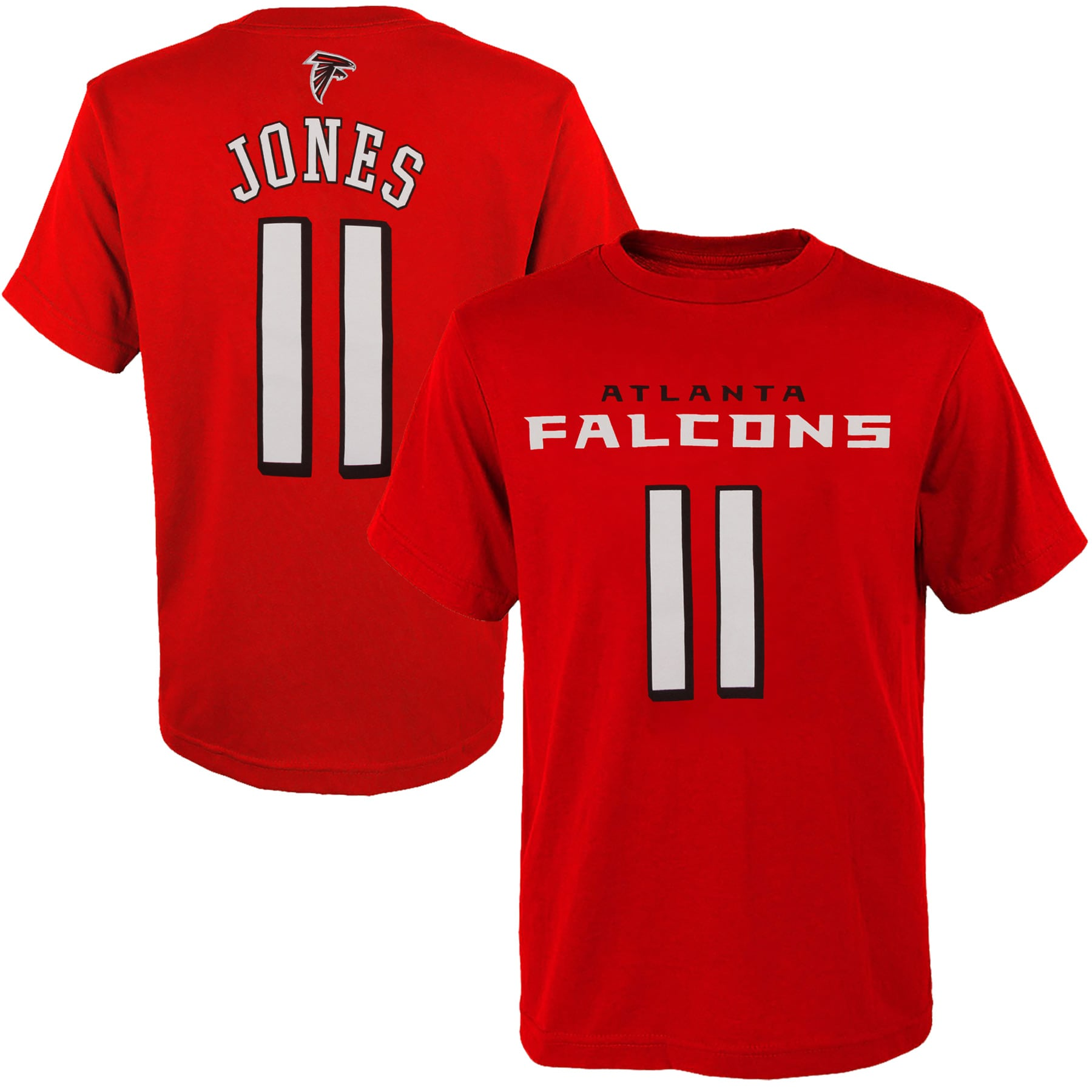 Julio Jones Atlanta Falcons Youth Mainliner Player Name & Number T-Shirt - Red