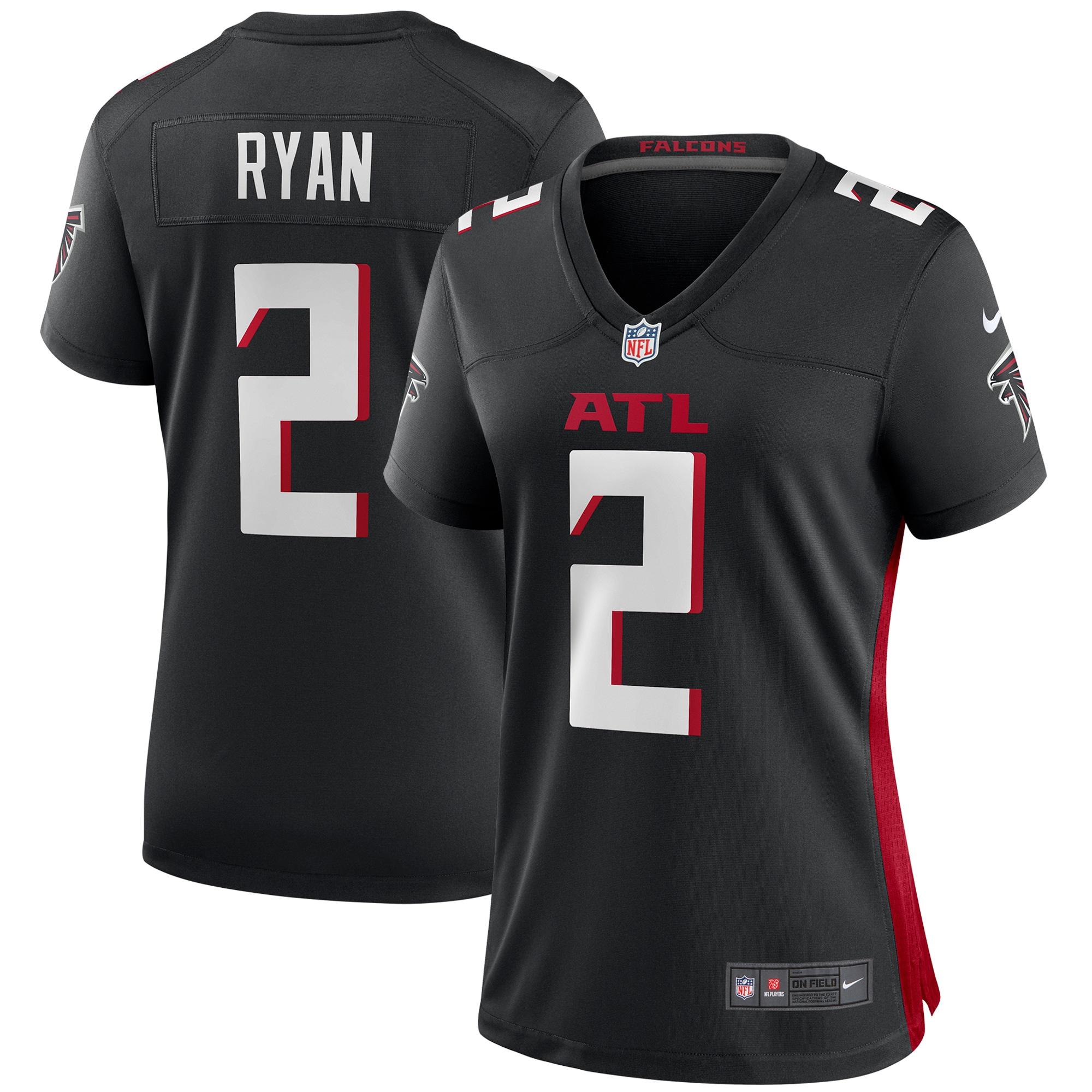 Matt Ryan Atlanta Falcons Nike Women's Player Game Jersey - Black