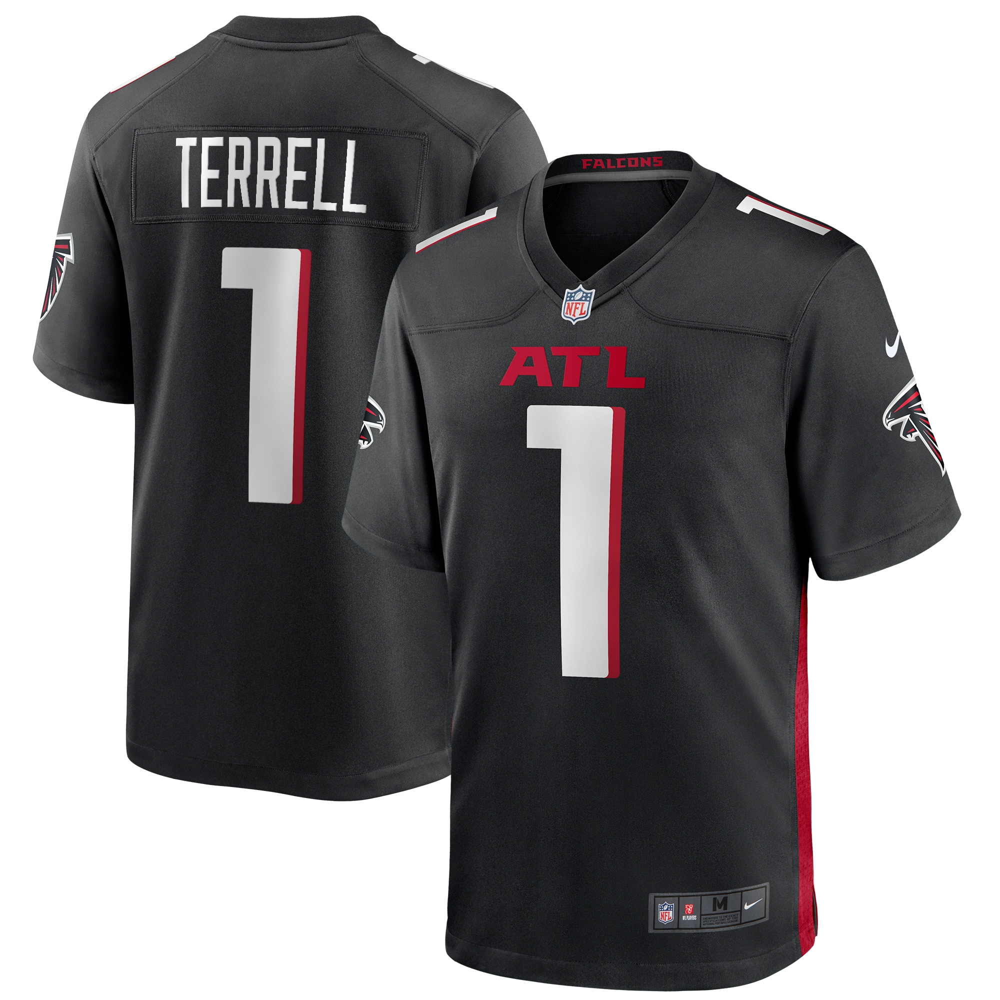 A.J. Terrell Atlanta Falcons Nike 2020 NFL Draft First Round Pick Game Jersey - Black