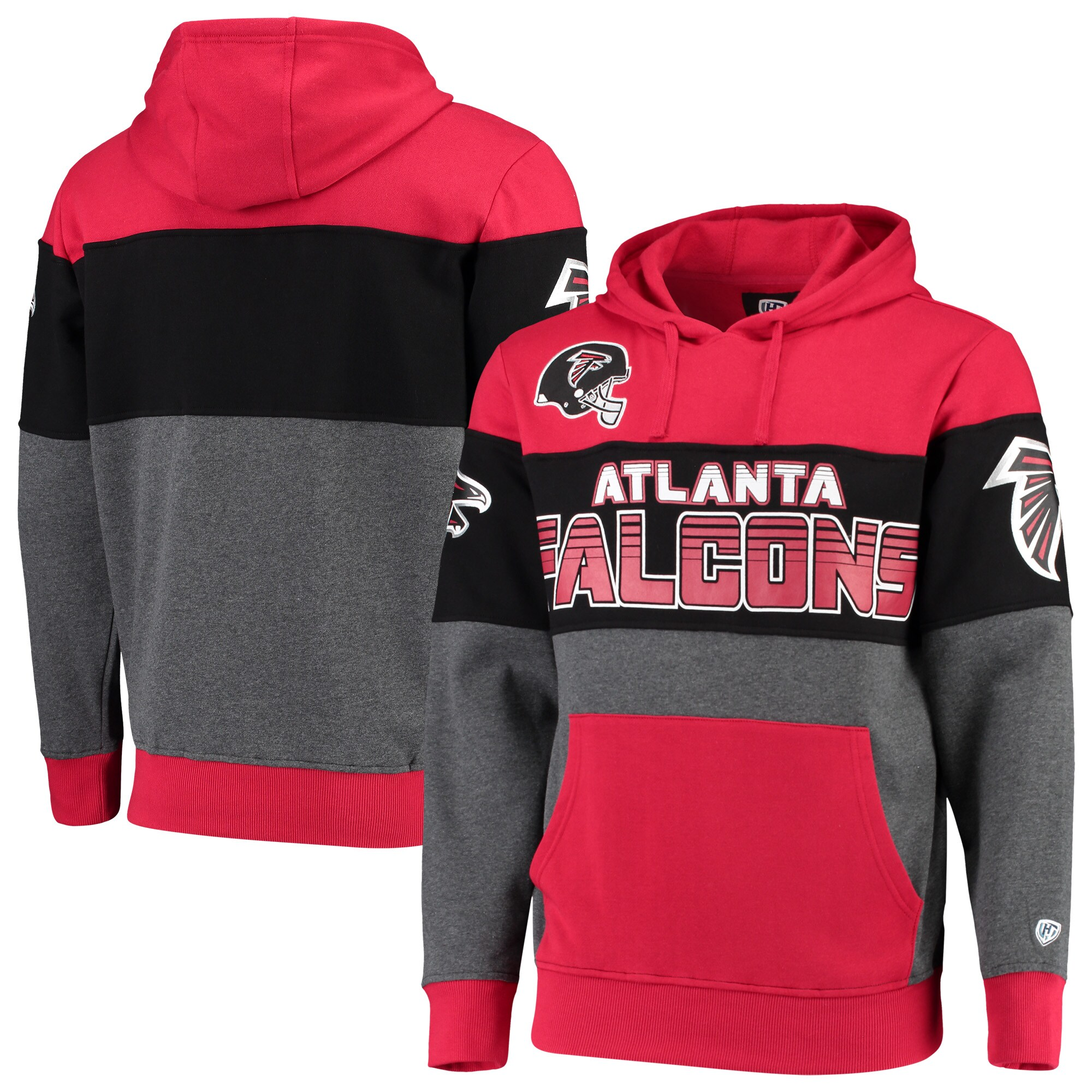 Atlanta Falcons G-III Sports by Carl Banks Extreme Special Team Pullover Hoodie - Red/Charcoal