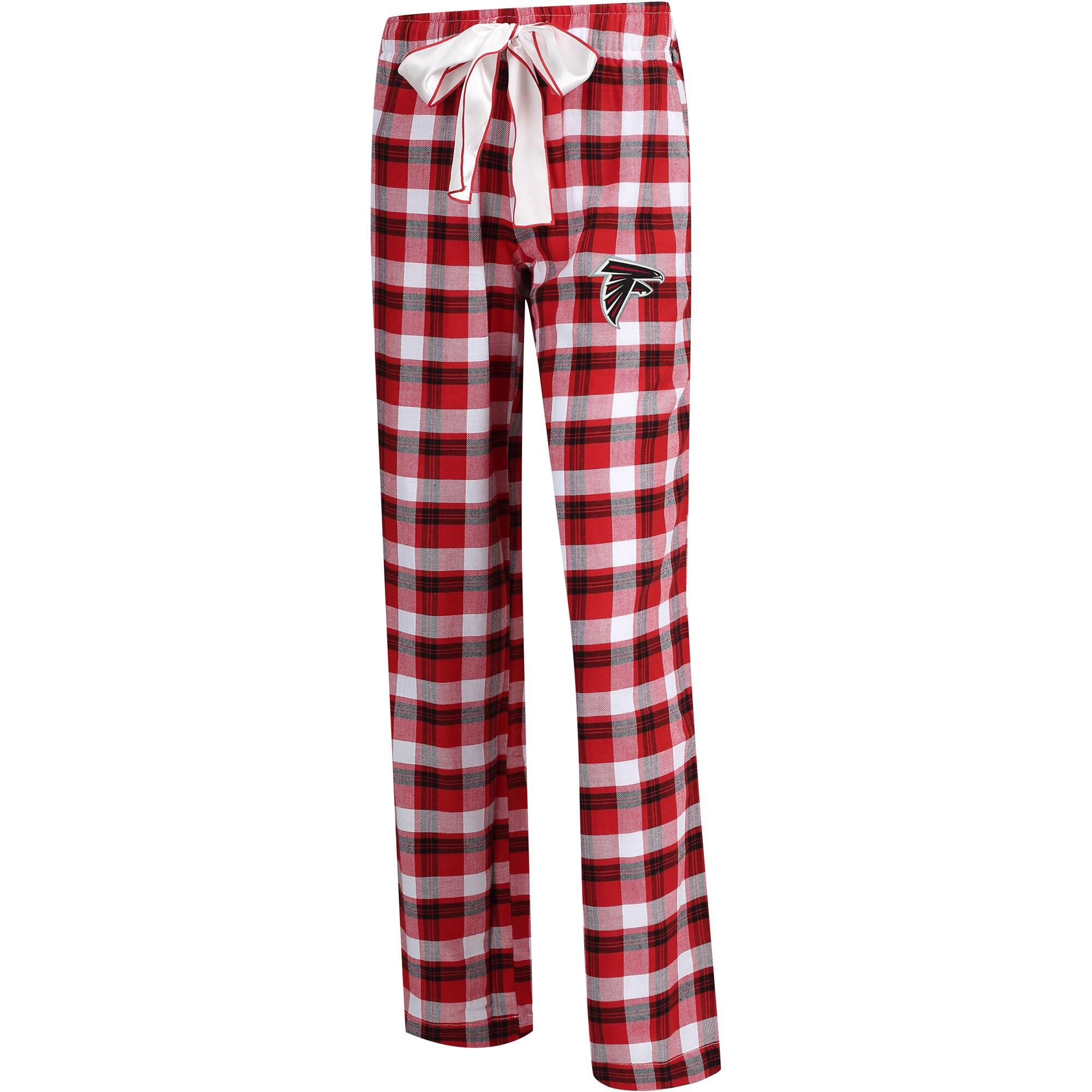 Atlanta Falcons Concepts Sport Women's Plus Size Piedmont Flannel Sleep Pants - Red/Black