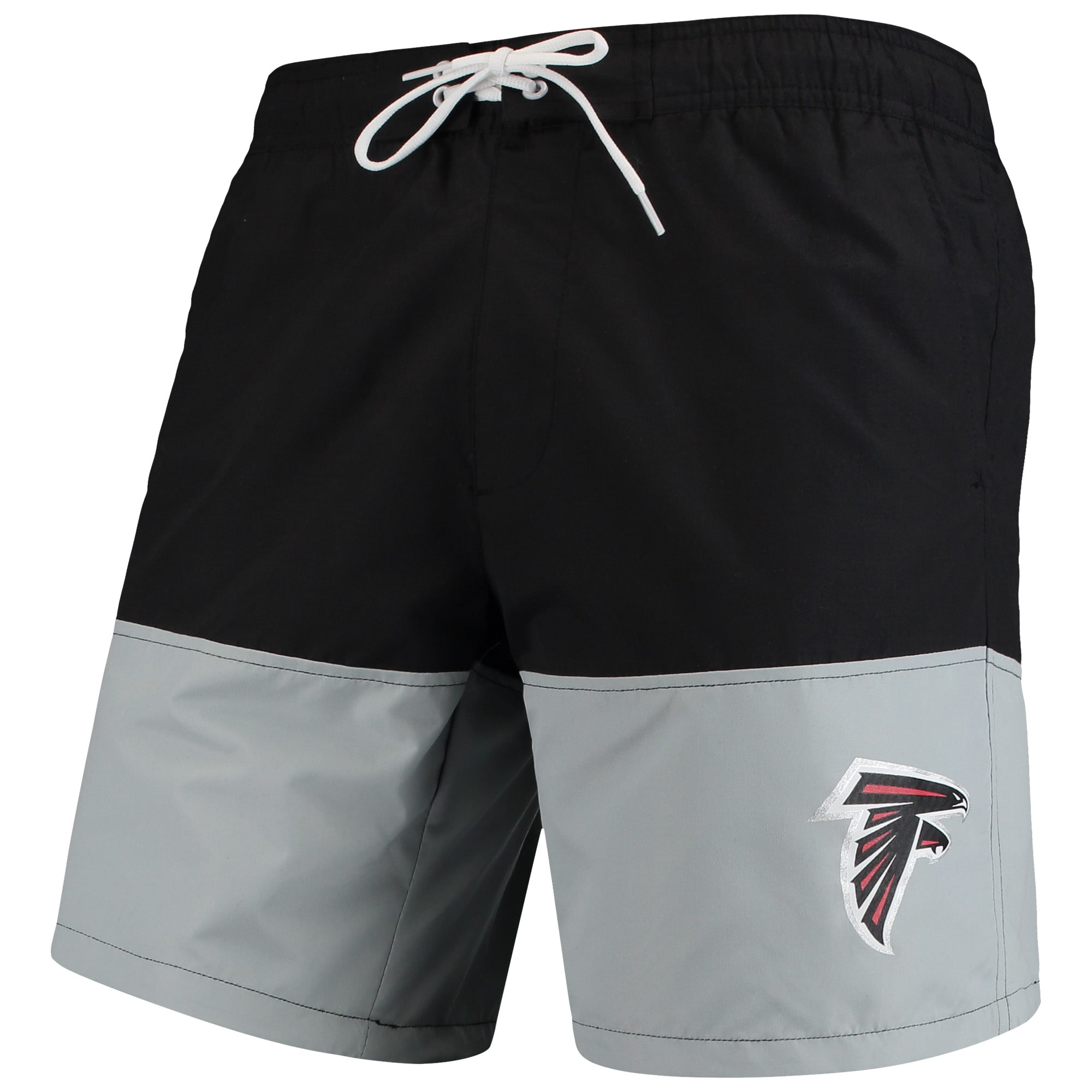 Atlanta Falcons G-III Sports by Carl Banks Anchor Volley Swim Trunks - Black/Gray