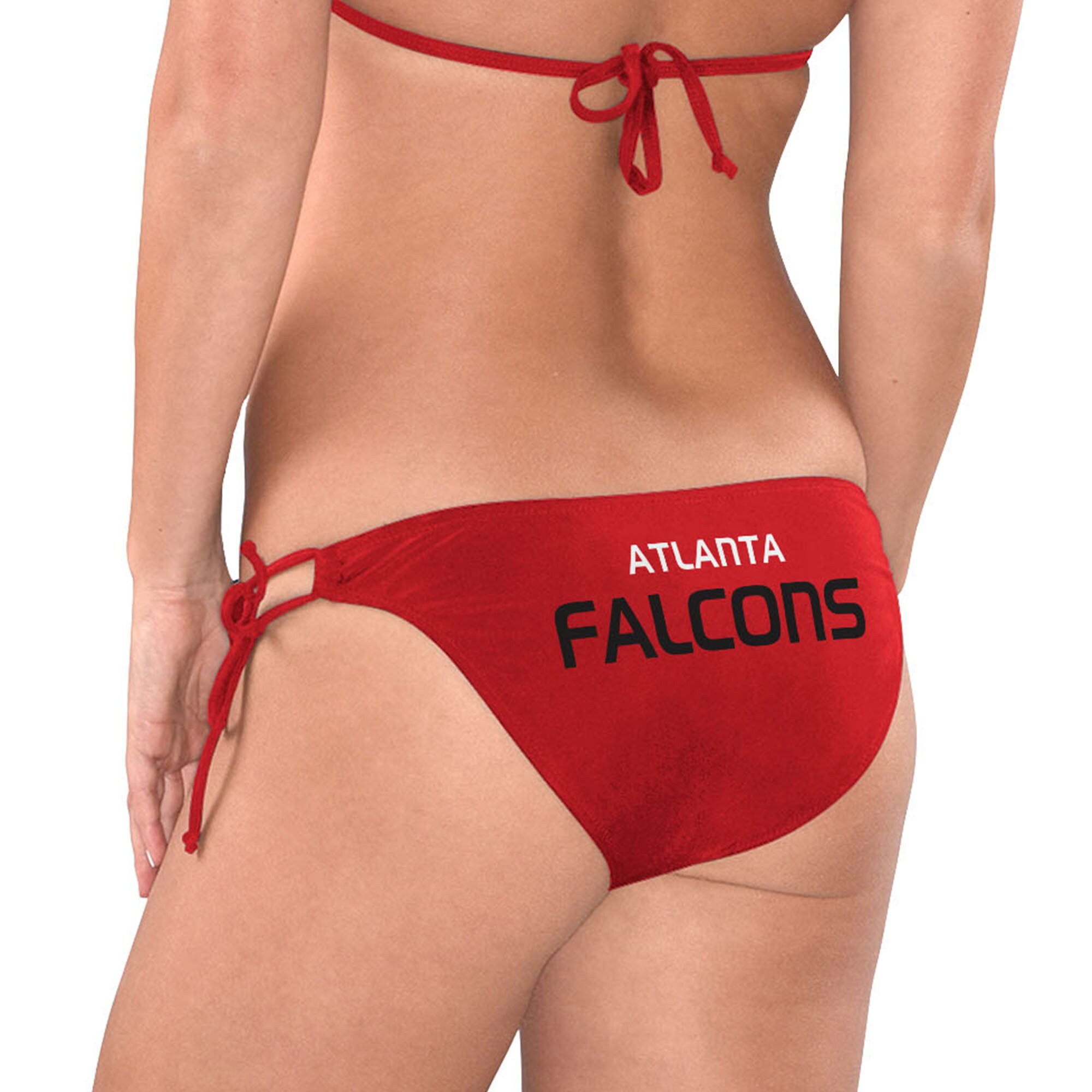 Atlanta Falcons G-III 4Her by Carl Banks Women's Breaking Waves Bikini Bottom - Red