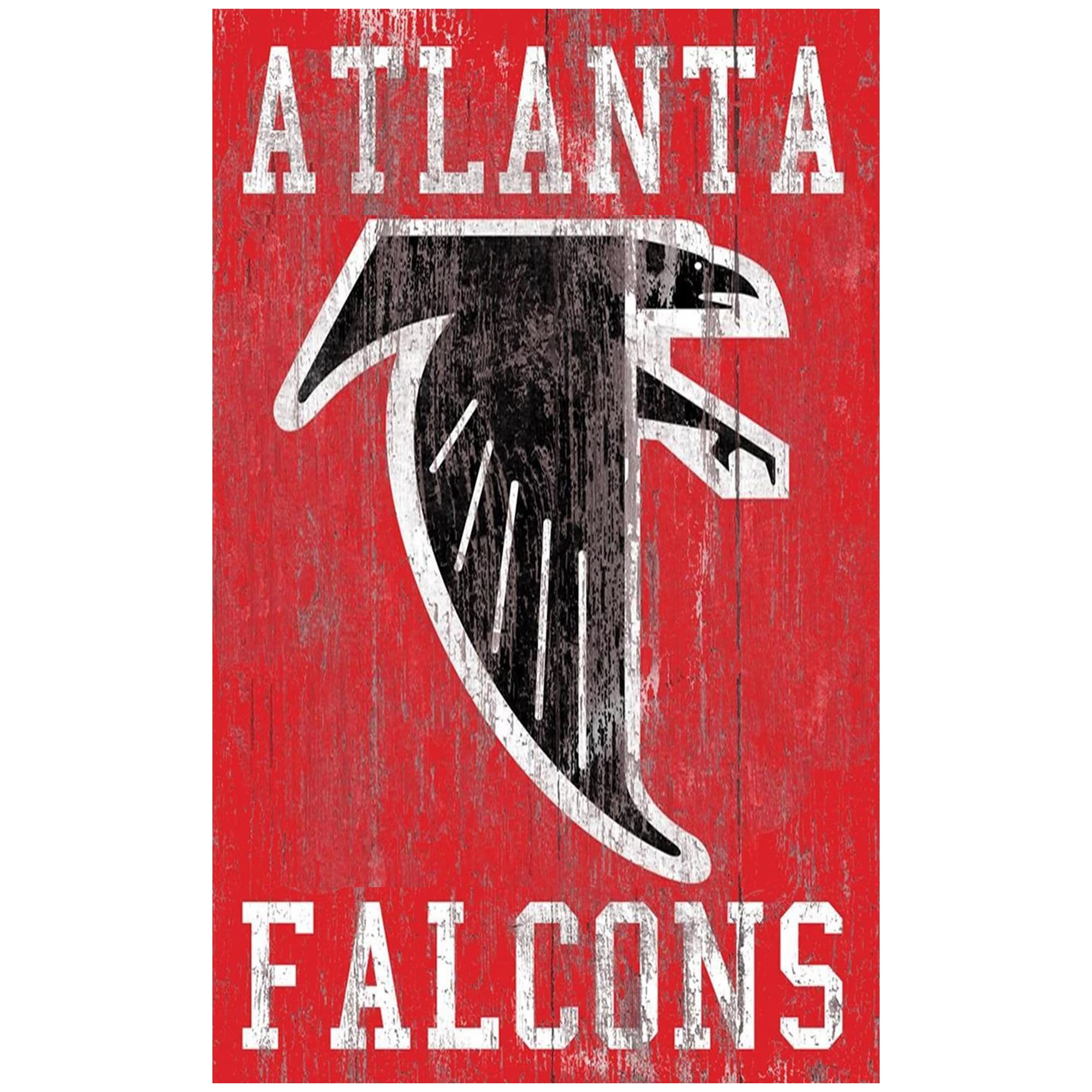 Atlanta Falcons 11'' x 19'' Heritage Distressed Logo Sign