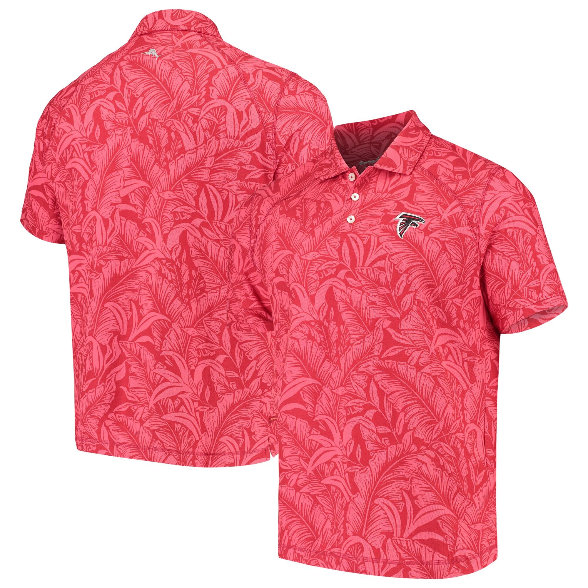 Atlanta Falcons Tommy Bahama Sport Leafbacker Polo - Red