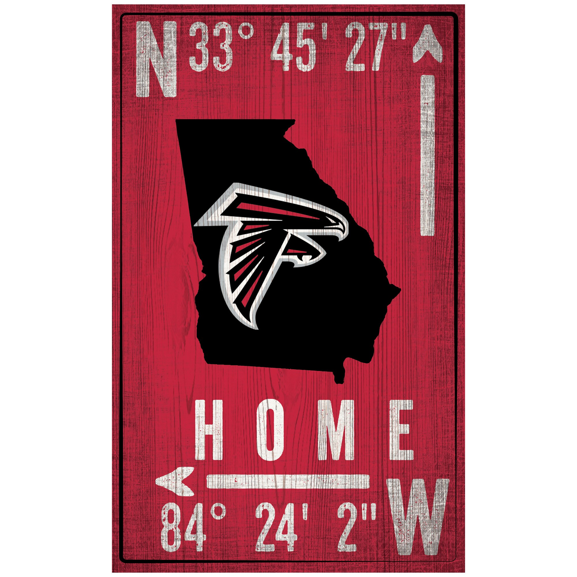 "Atlanta Falcons 11"" x 19"" Coordinate Sign"