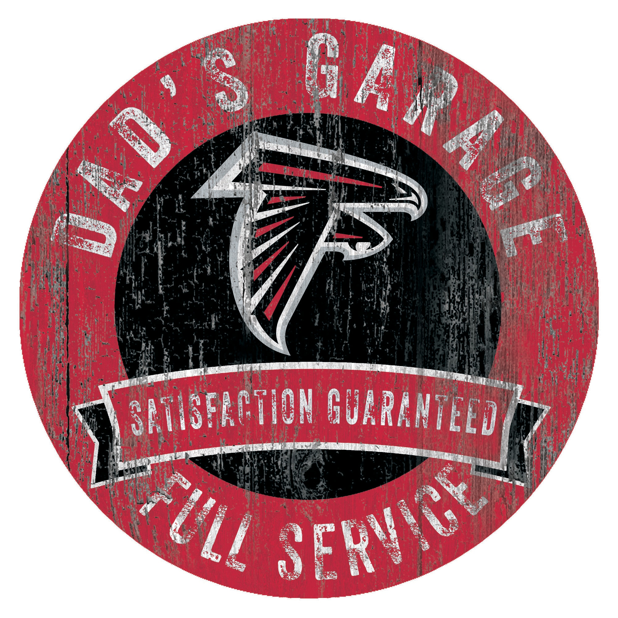 "Atlanta Falcons 12"" x 12"" Dad's Garage Sign"