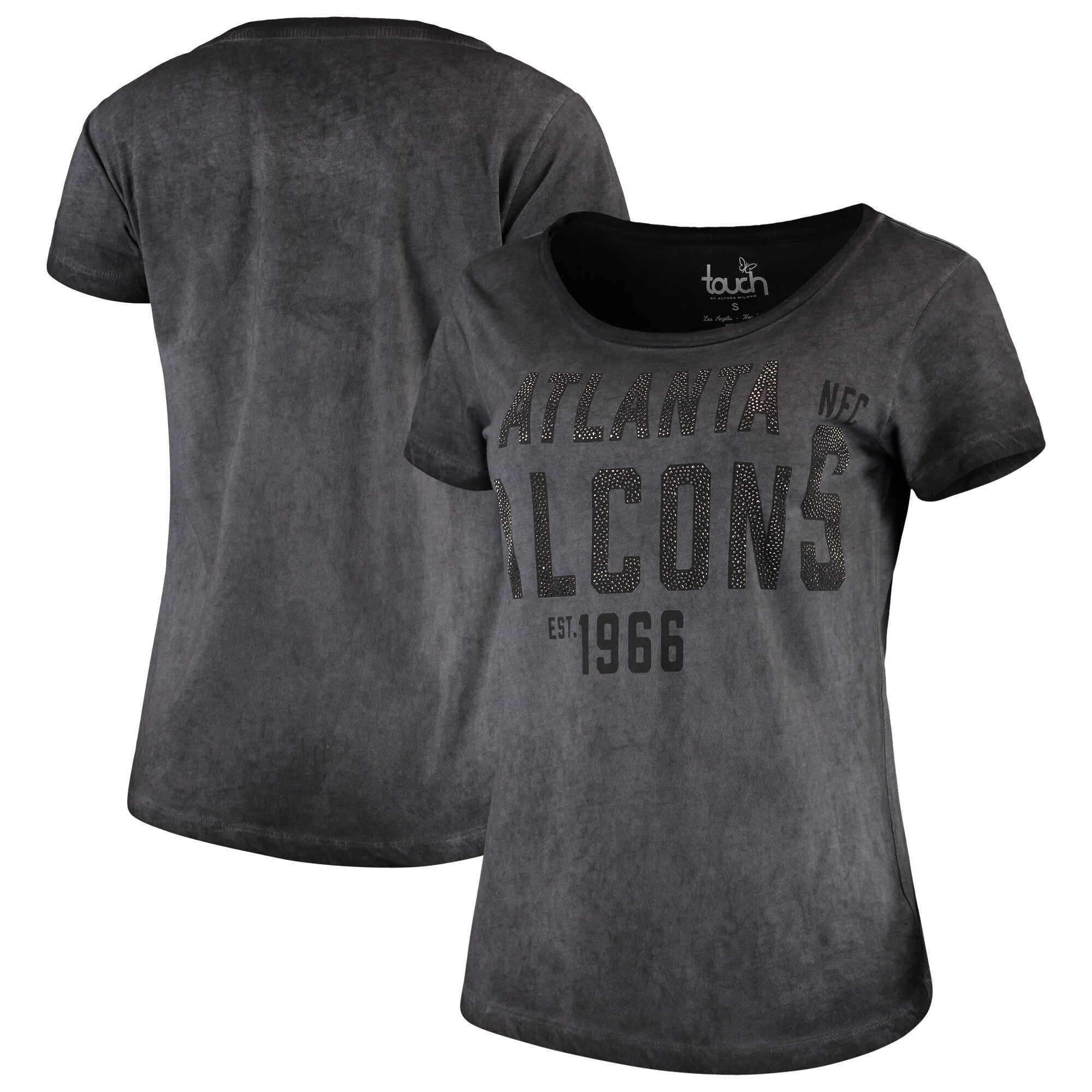 Atlanta Falcons Touch by Alyssa Milano Women's Fade Route T-Shirt - Gray