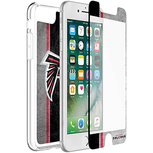 Atlanta Falcons OtterBox iPhone 8/7/6/6s Symmetry Case with Alpha Glass Screen Protector