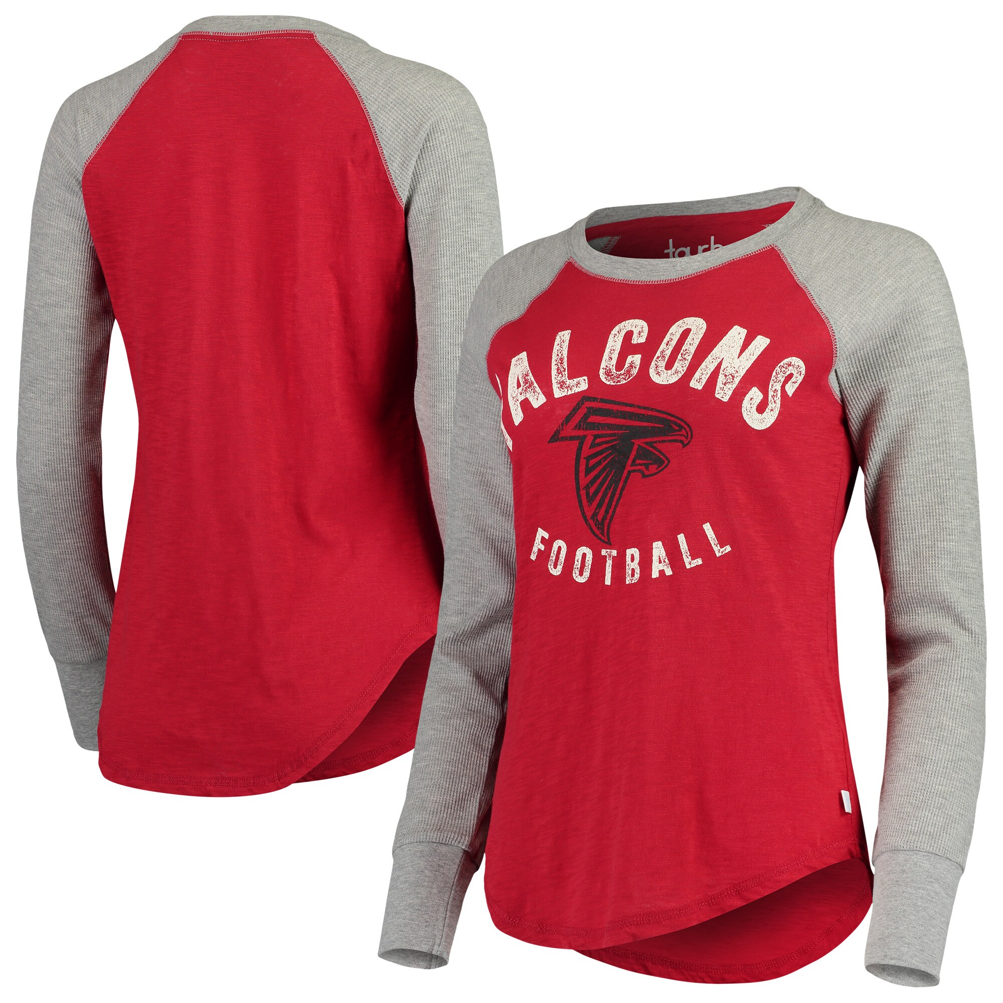Atlanta Falcons Touch by Alyssa Milano Women's Lay-Up Thermal Raglan Long Sleeve T-Shirt - Red