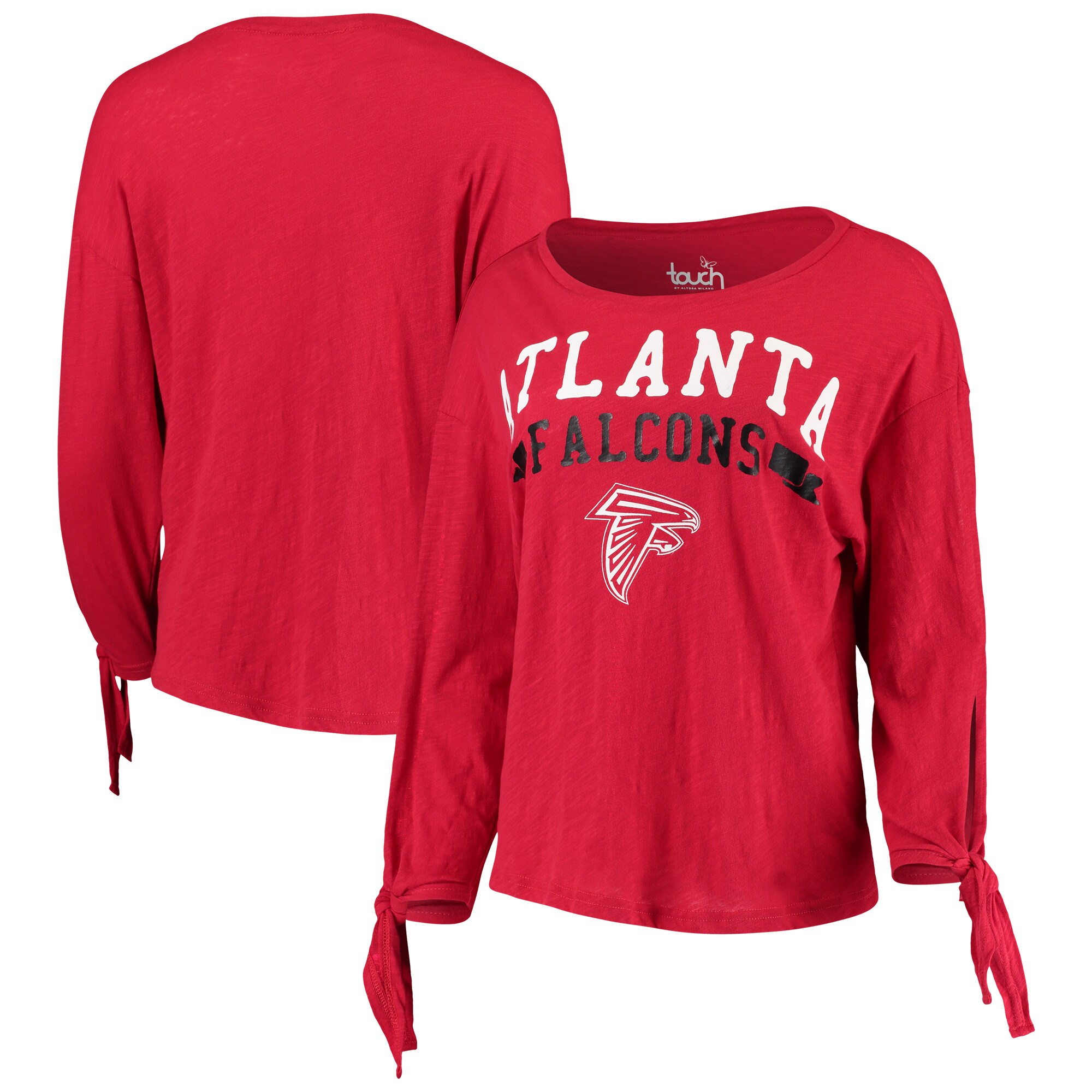 Atlanta Falcons Touch by Alyssa Milano Women's On The Fly Long Sleeve T-Shirt - Red