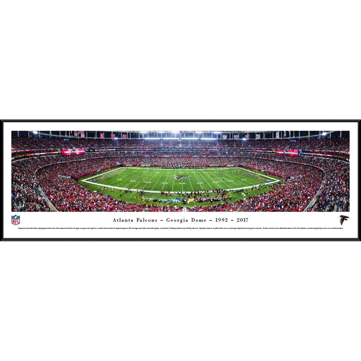 "Atlanta Falcons 14"" x 40"" Standard Frame Panoramic Photo"