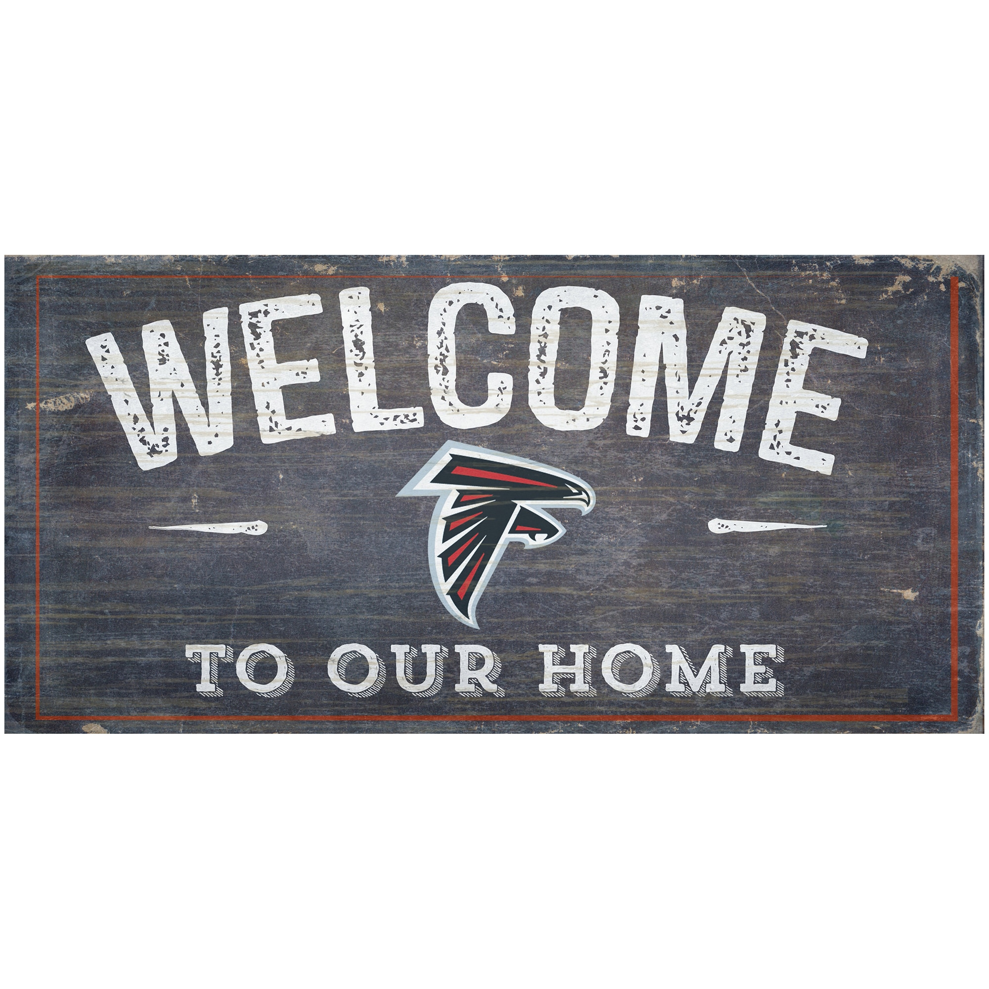 "Atlanta Falcons 6"" x 12"" Welcome To Our Home Sign"