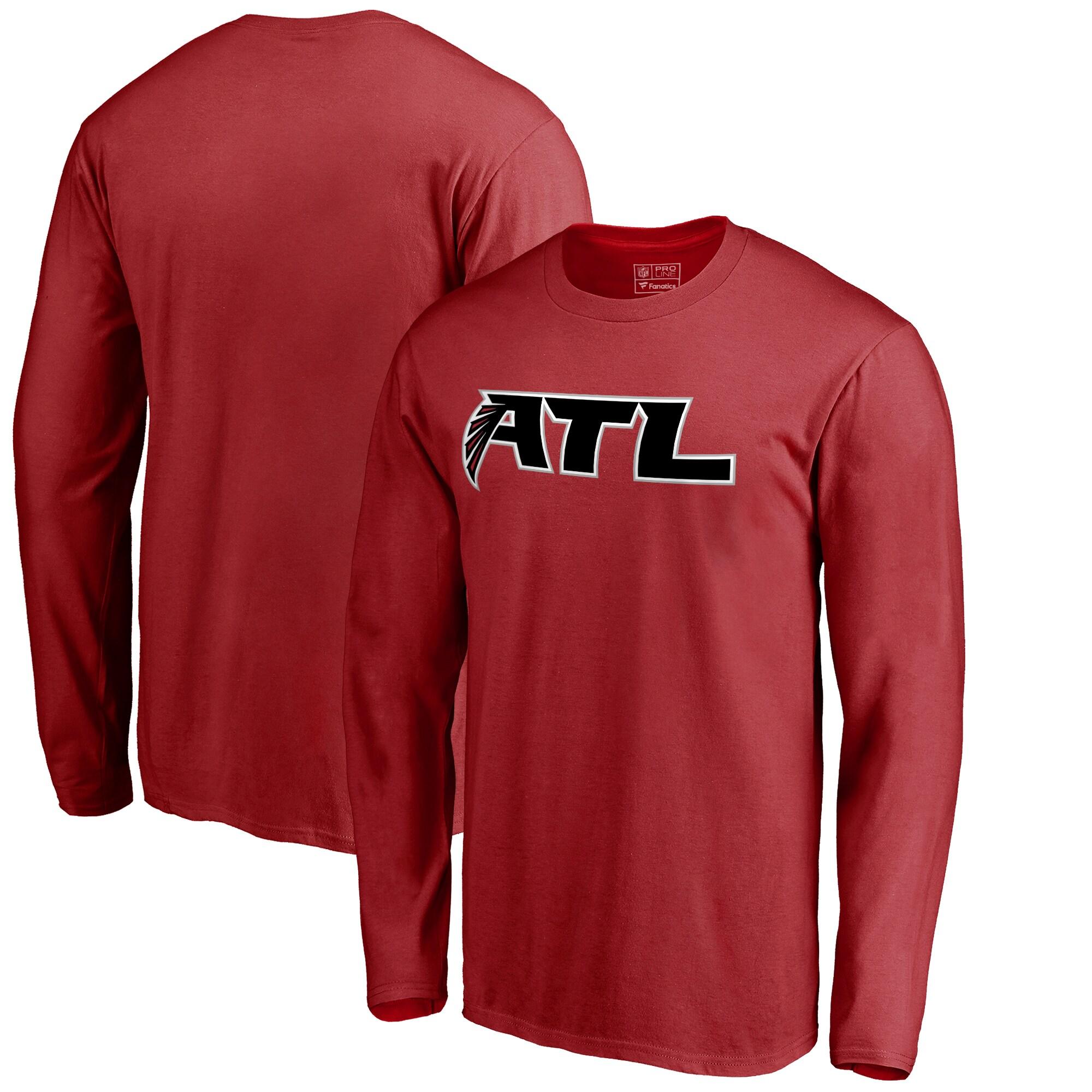 Atlanta Falcons NFL Pro Line Alternate Logo Long Sleeve T-Shirt - Red