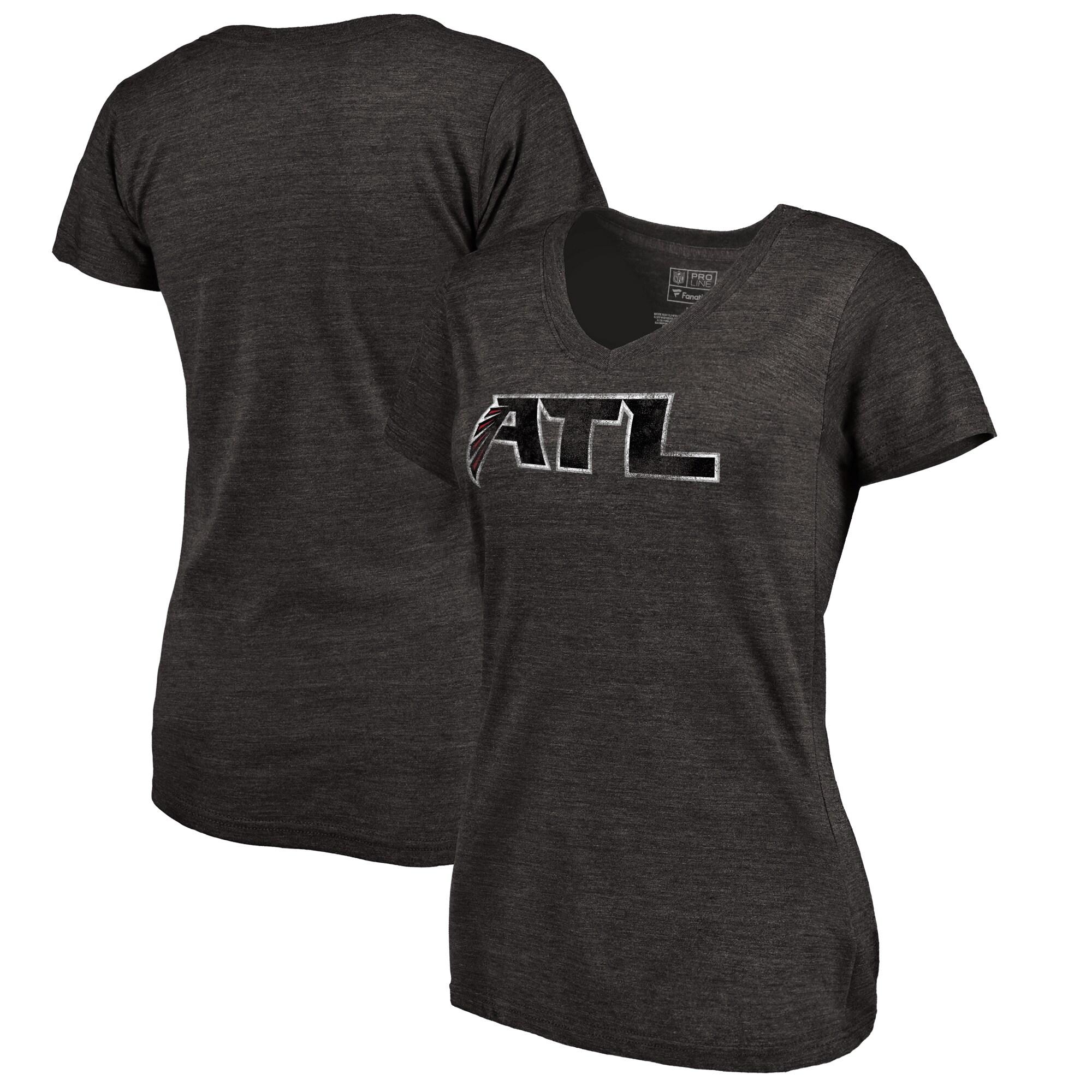 Atlanta Falcons NFL Pro Line Women's Alternate Logo Tri-Blend T-Shirt - Black