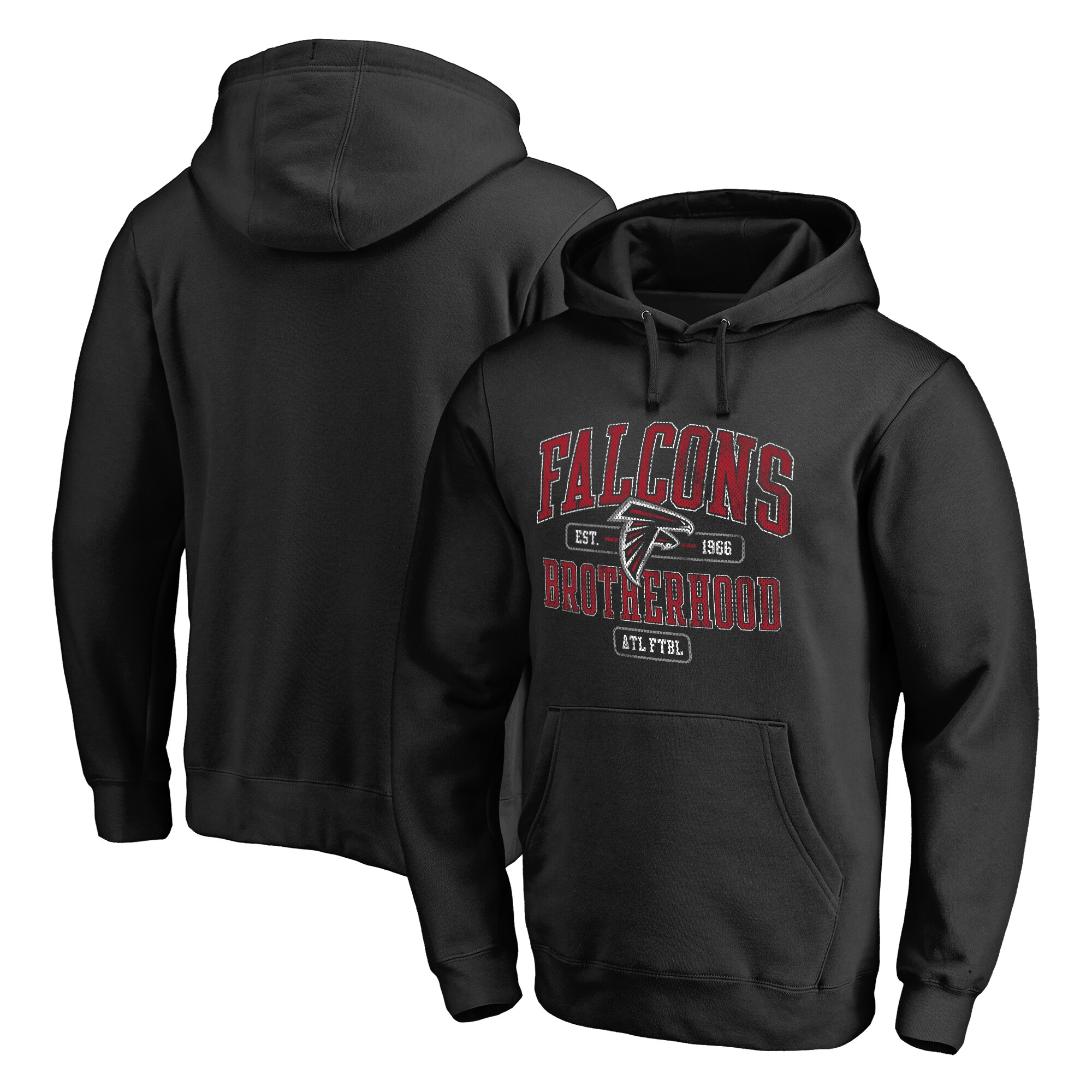 Atlanta Falcons Fanatics Branded Hometown Collection Guild Pullover Hoodie - Black