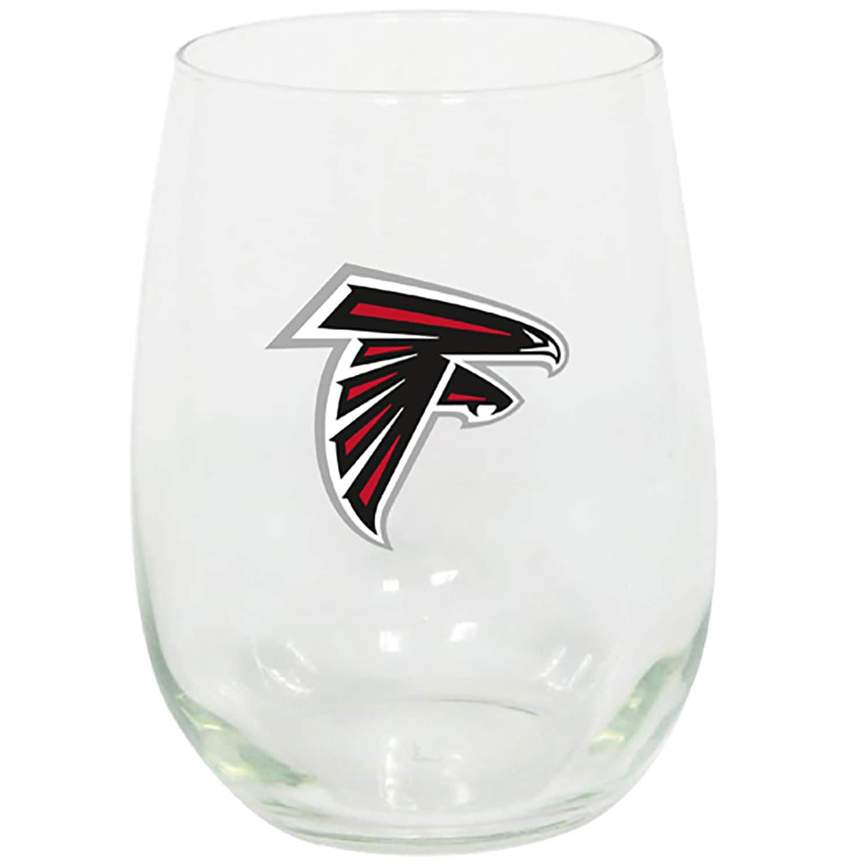 Atlanta Falcons 15oz. Stemless Wine Glass
