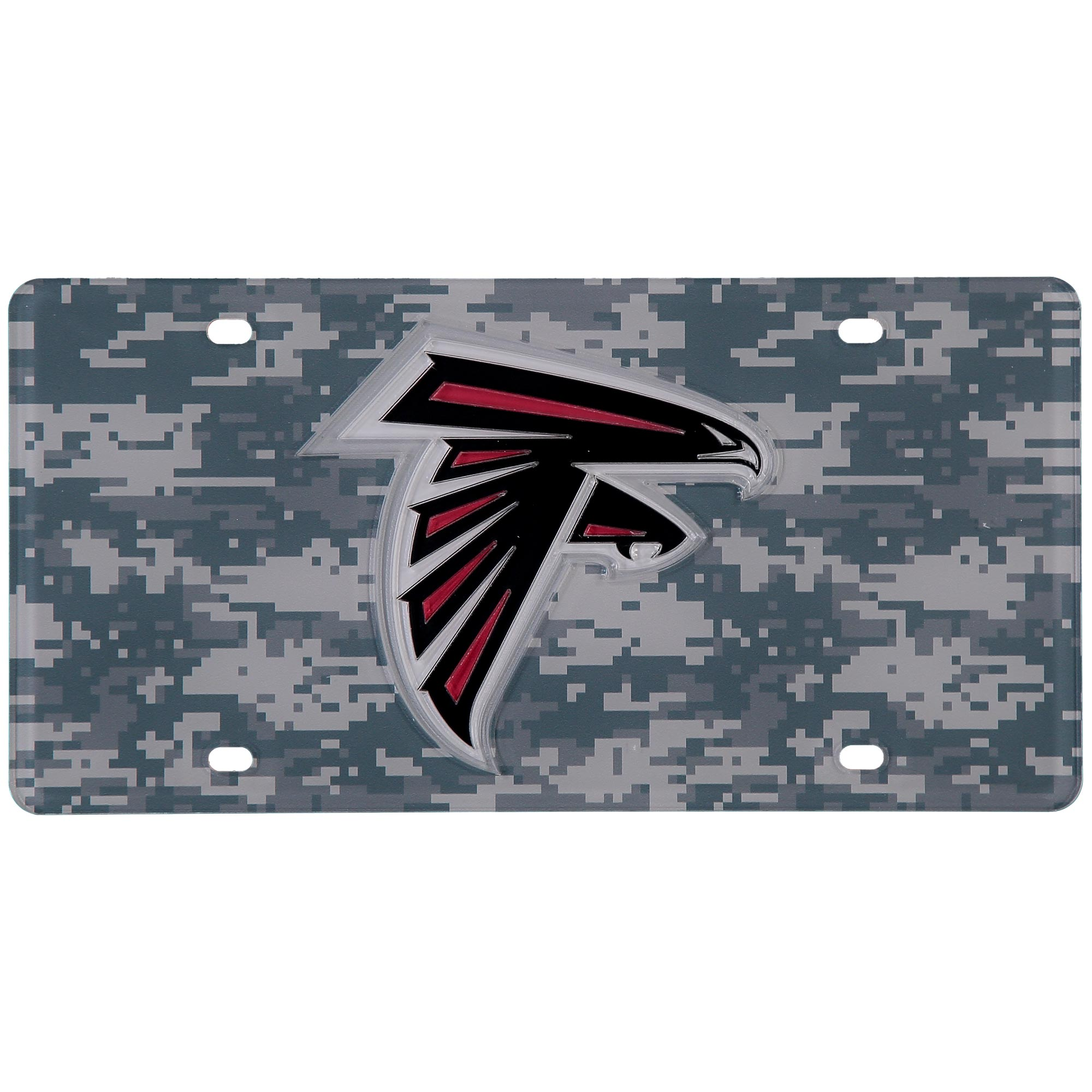 Atlanta Falcons Digi Camo Laser Cut License Plate