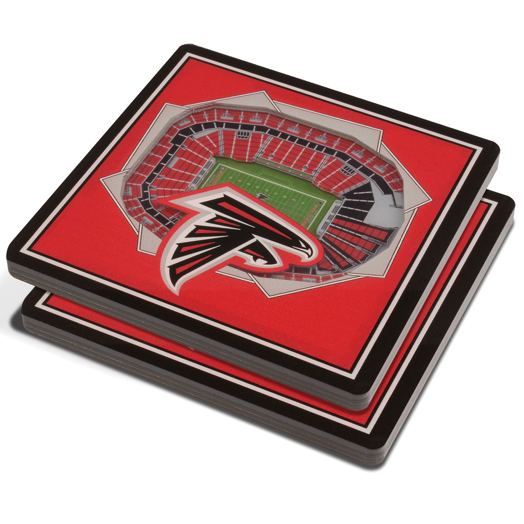 Atlanta Falcons 3D StadiumViews Coasters - Red
