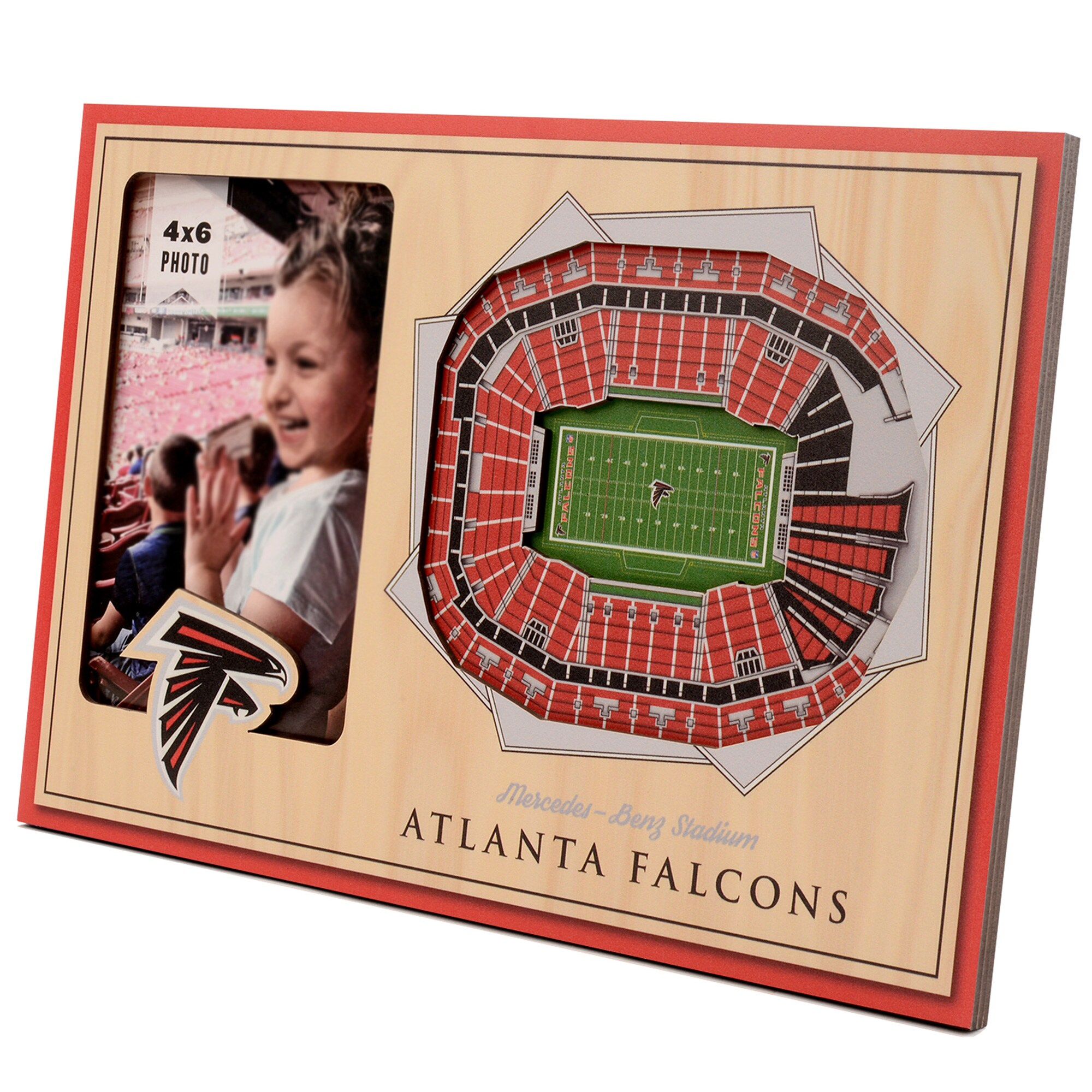 Atlanta Falcons 3D StadiumViews Picture Frame - Brown