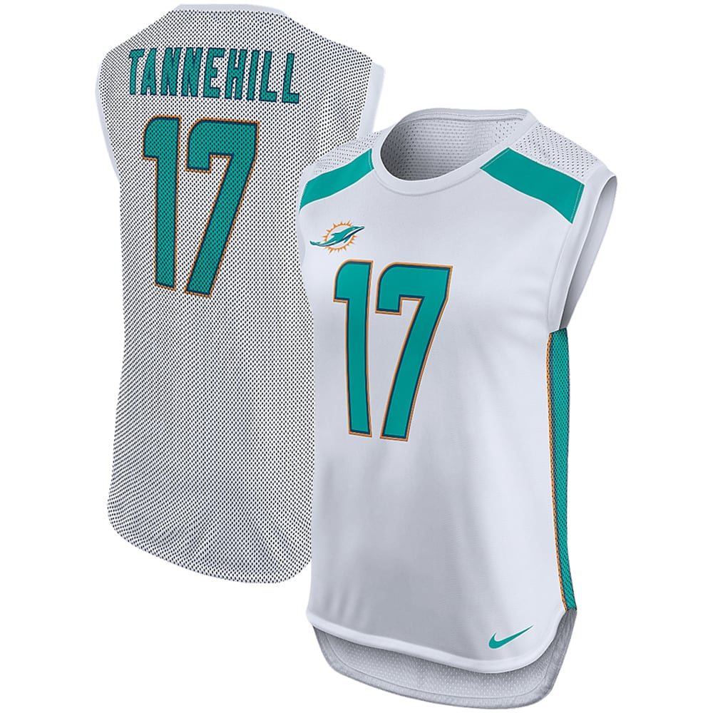 Ryan Tannehill Miami Dolphins Nike Women's Player Name & Number Sleeveless Top - White
