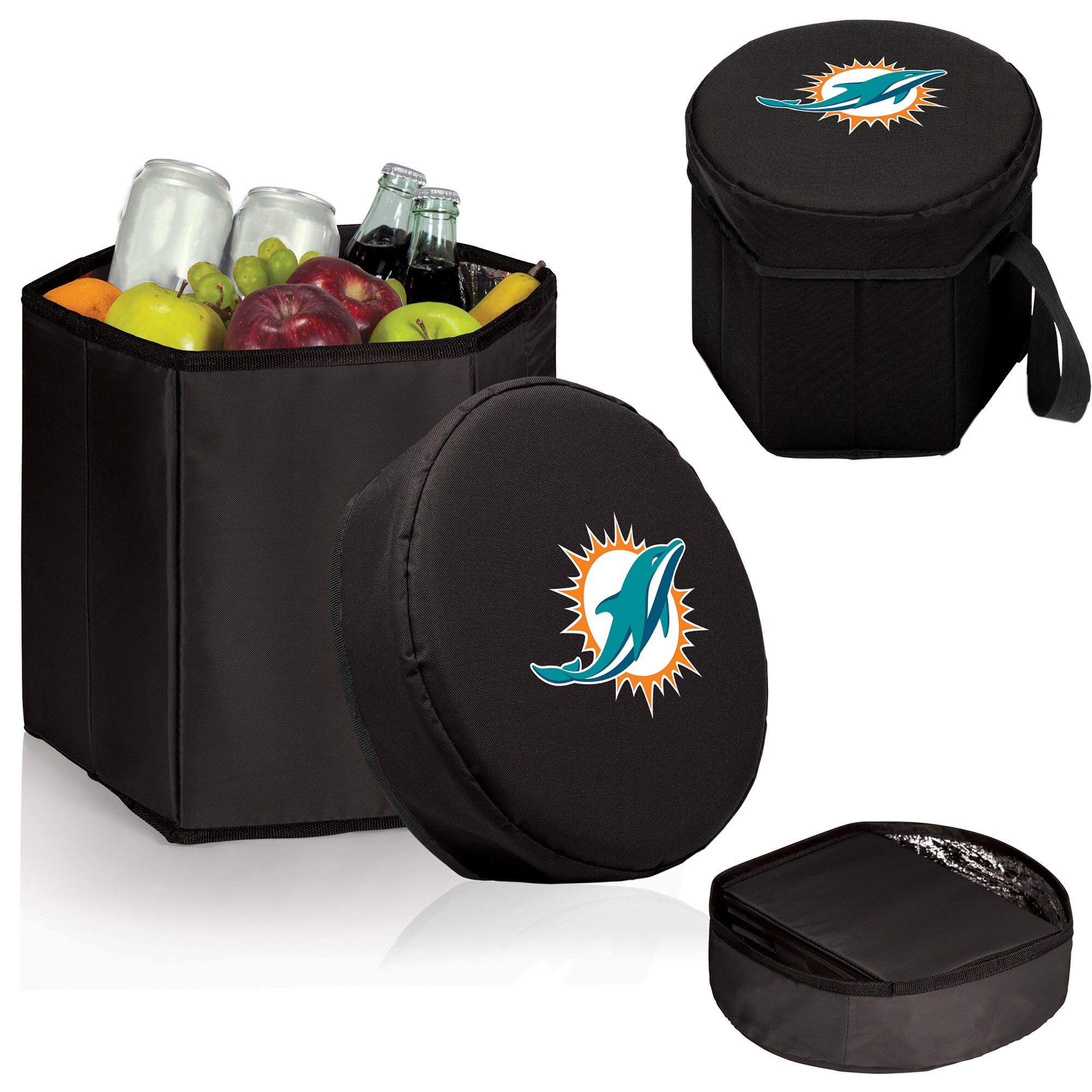 Miami Dolphins 12 Quart Bongo Cooler - Black