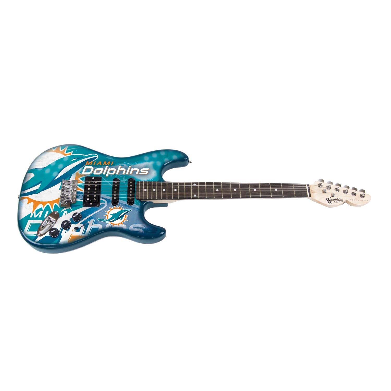 Miami Dolphins Woodrow Guitar NorthEnder Guitar