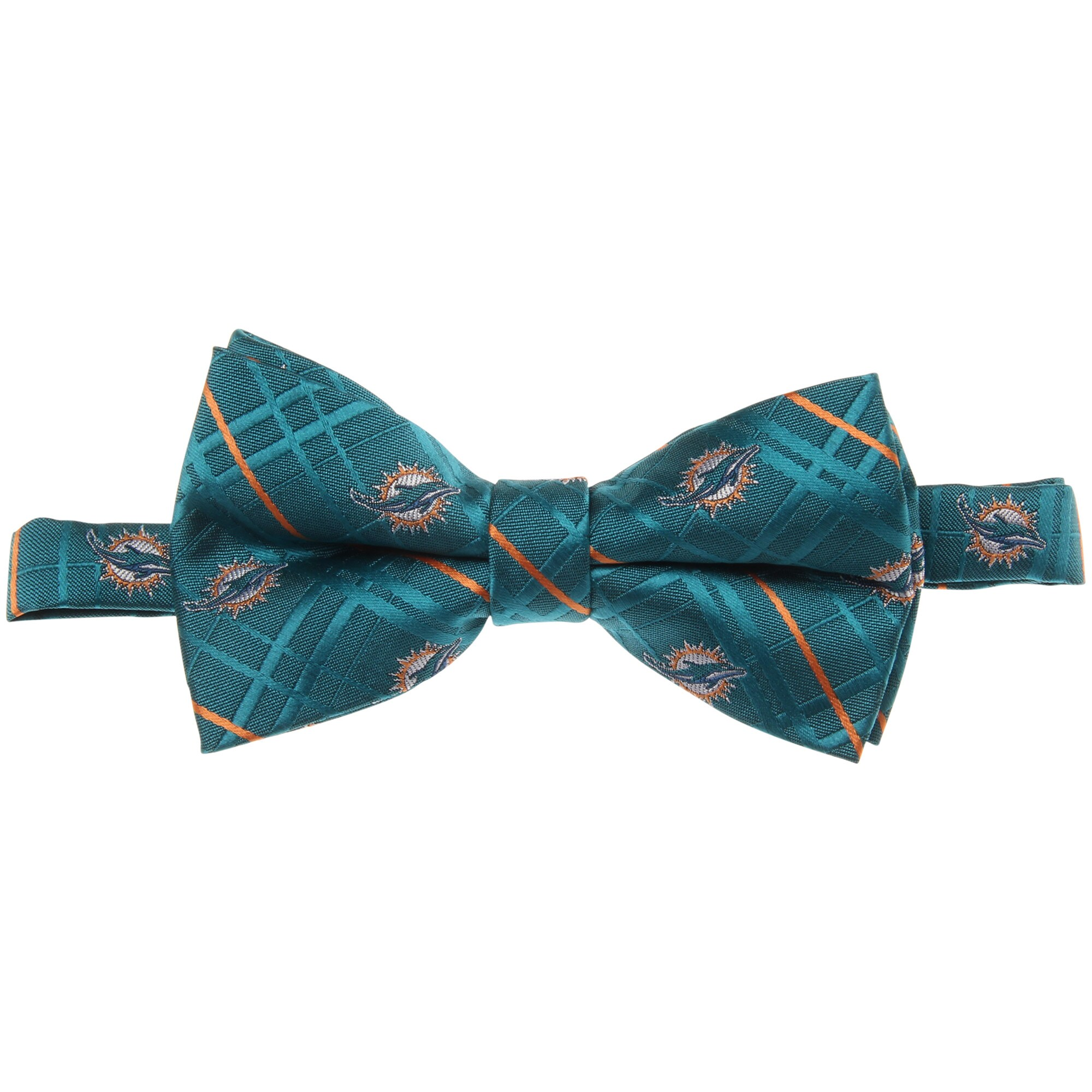 Miami Dolphins Oxford Bow Tie - Aqua