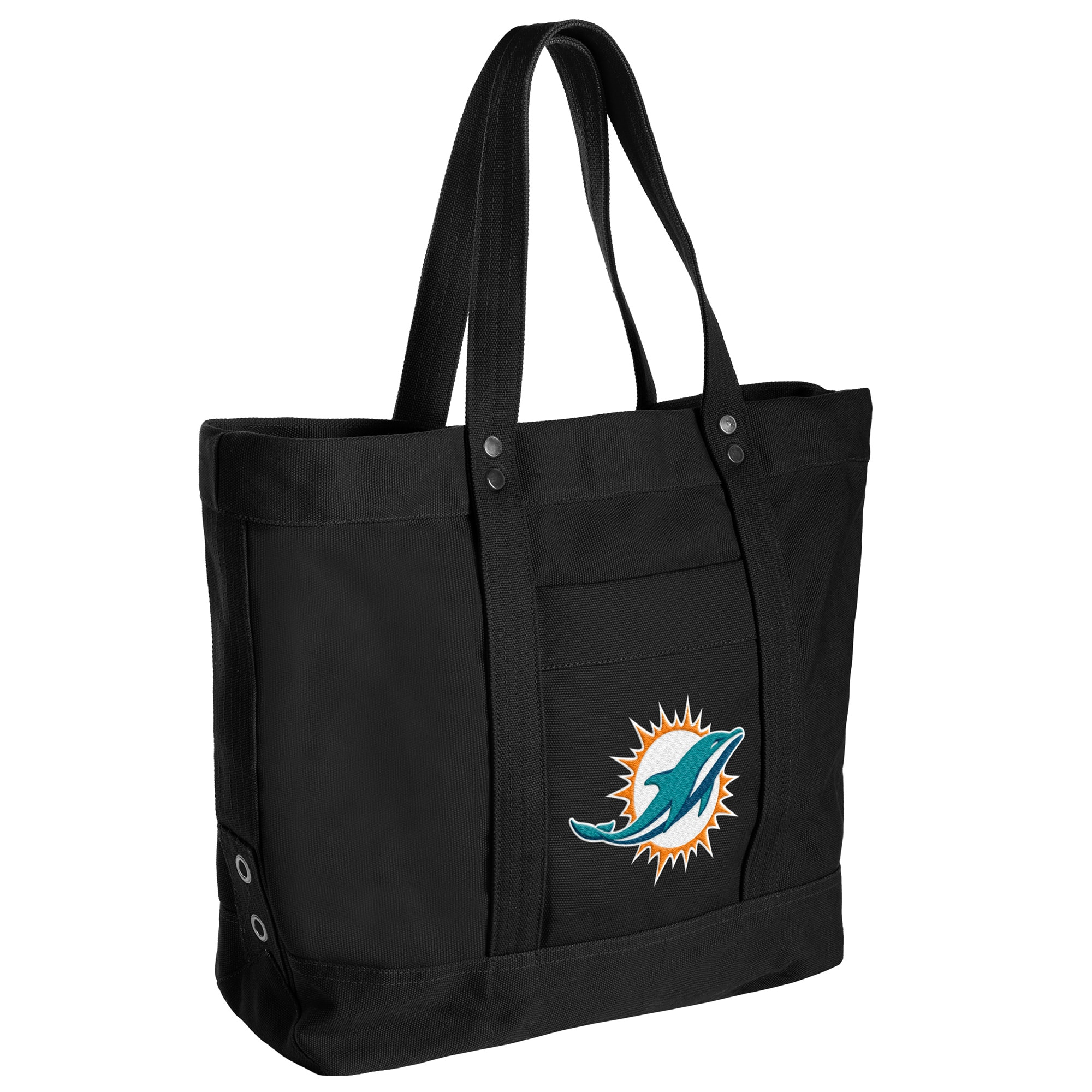 Miami Dolphins Women's High End Canvas Tote