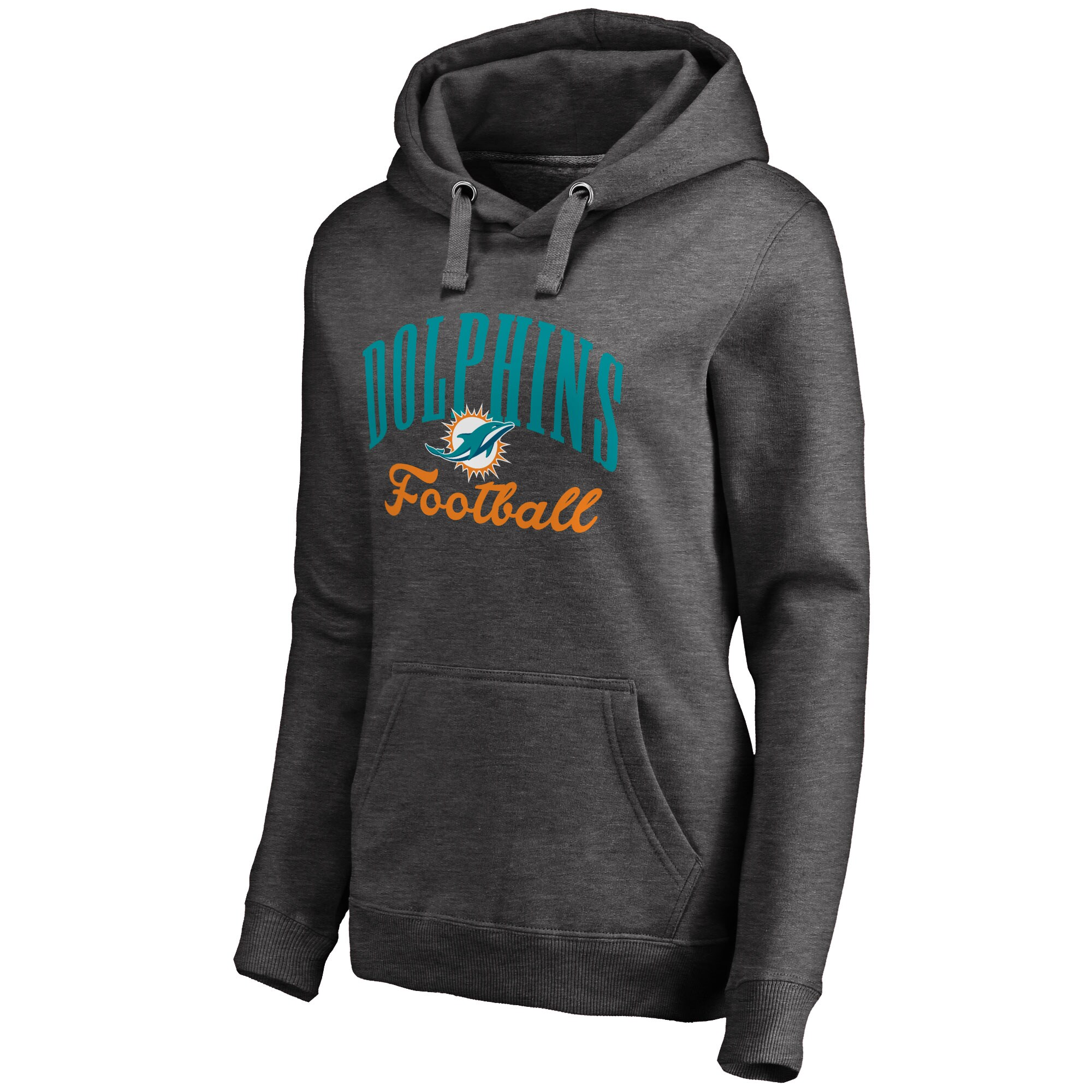 Miami Dolphins NFL Pro Line Women's Victory Script Pullover Hoodie -