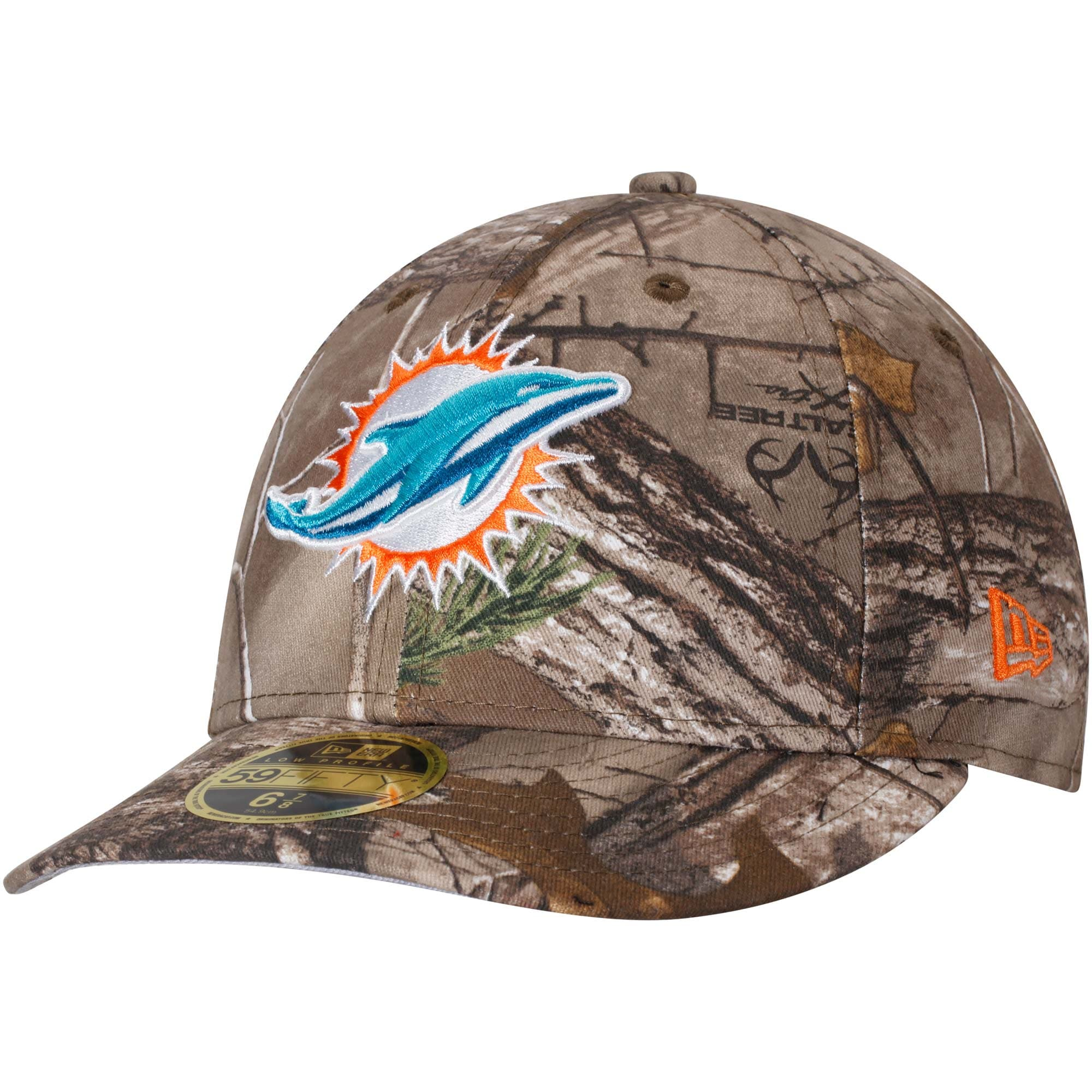 Miami Dolphins New Era Low Profile 59FIFTY Hat - Realtree Camo