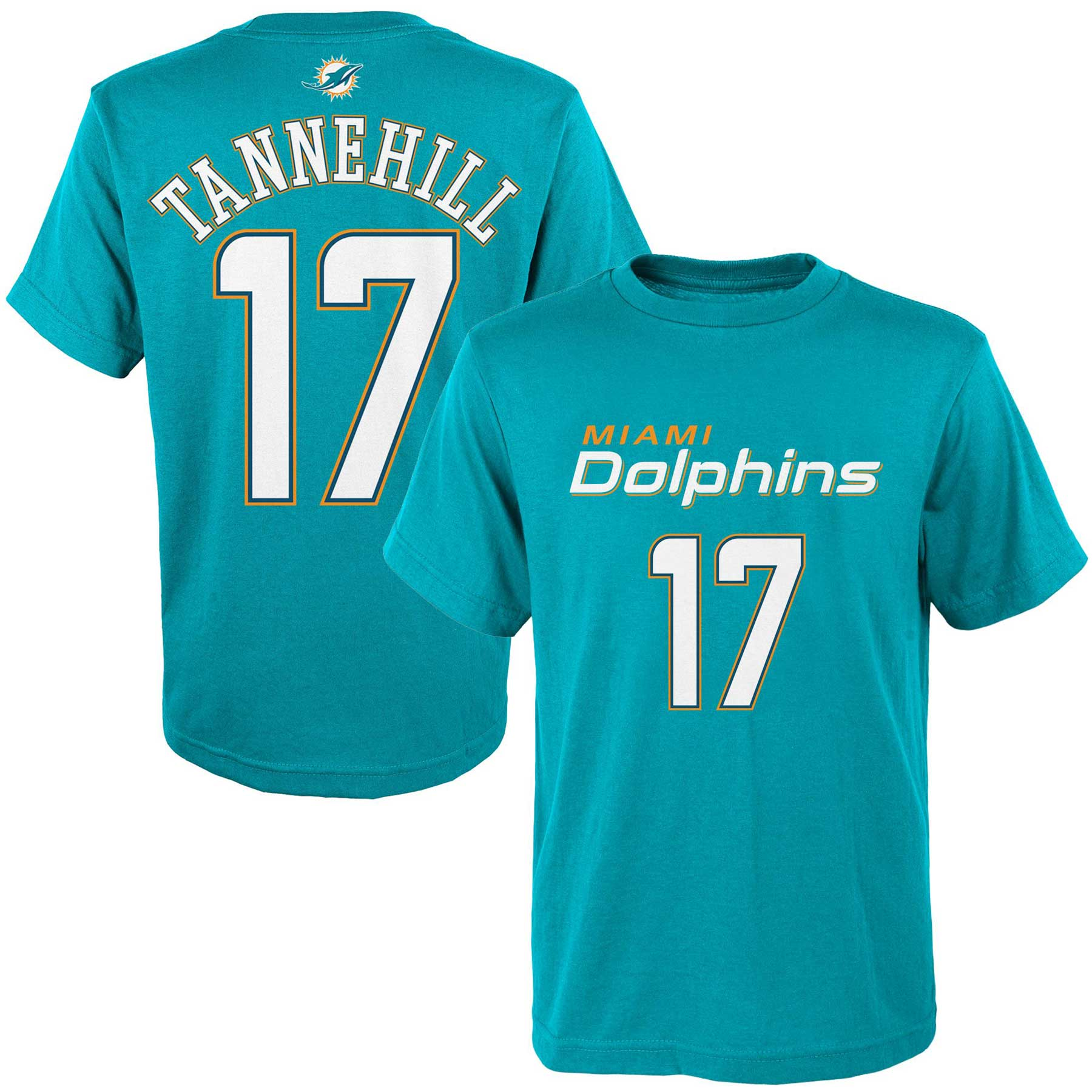 Ryan Tannehill Miami Dolphins Youth Mainliner Name & Number T-Shirt - Aqua