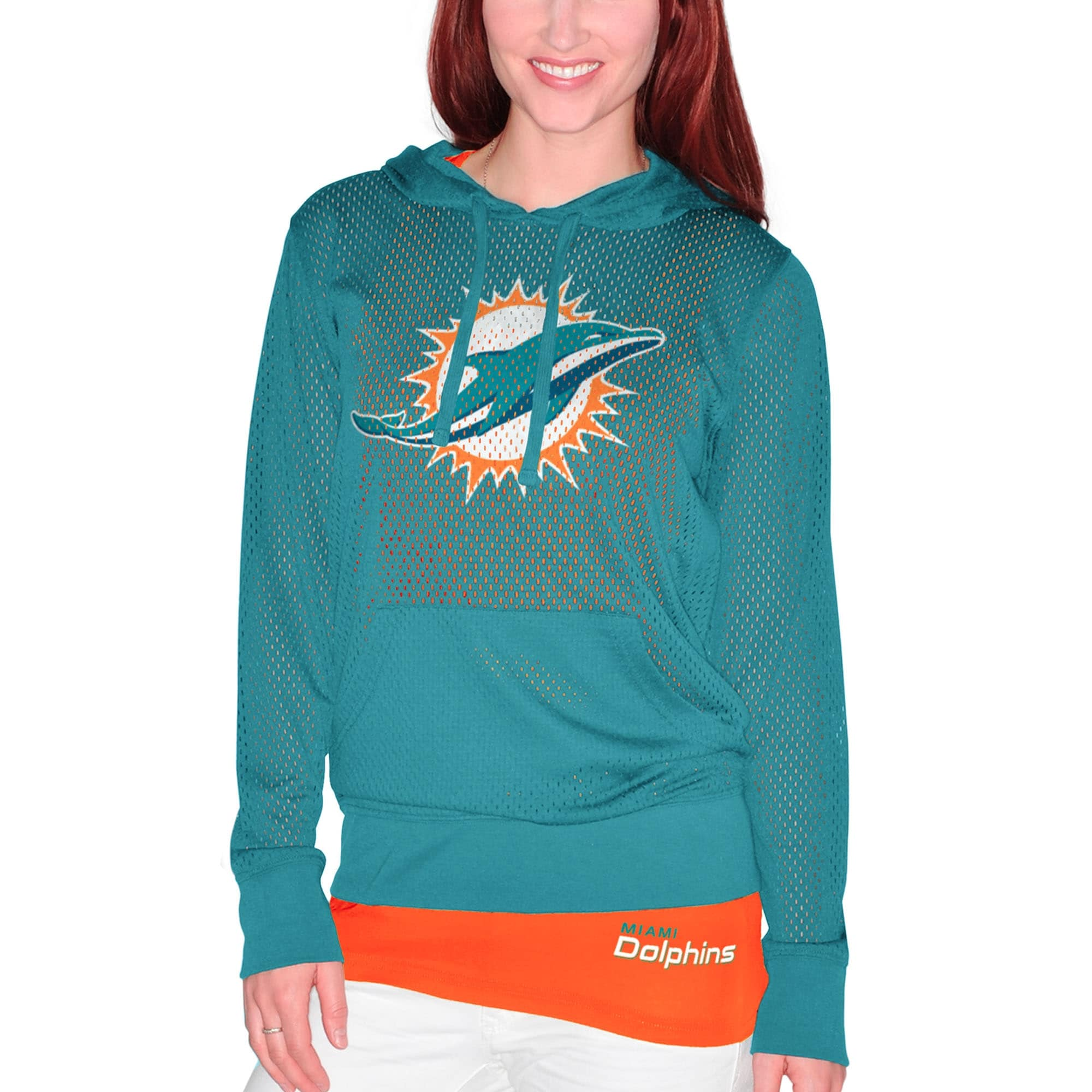 Miami Dolphins Women's Holey Hoodie T-Shirt & Tank Top Set - Aqua